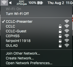"""Your Mac should only connect to """"CCLC"""""""