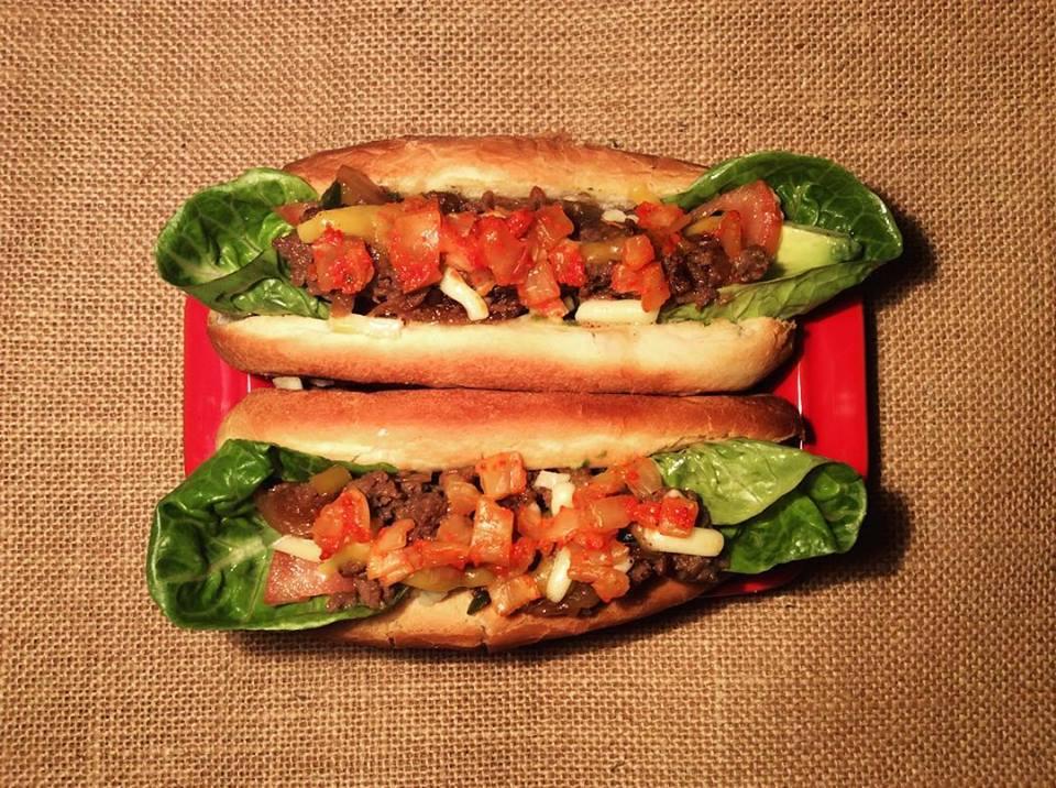 Kimchi hotdog with bulgogi, caramelised onion, cheddar, avocado and gem lettuce.jpg