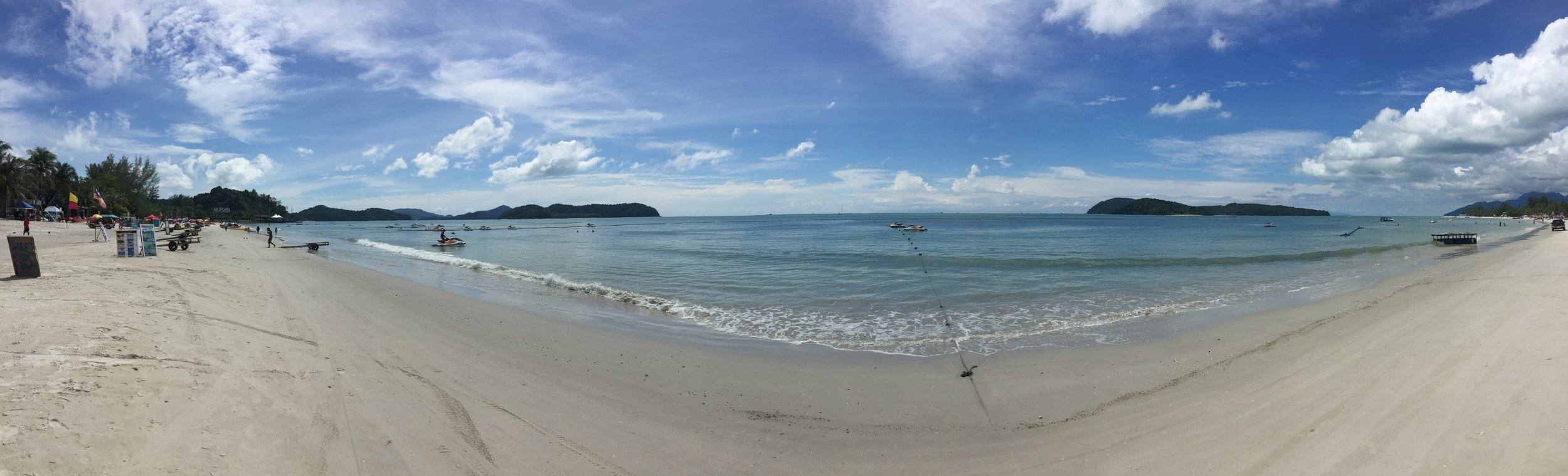 Cenang beach, on the southwestern side of Langkawi, a small island a few hours' ferry ride from Penang.