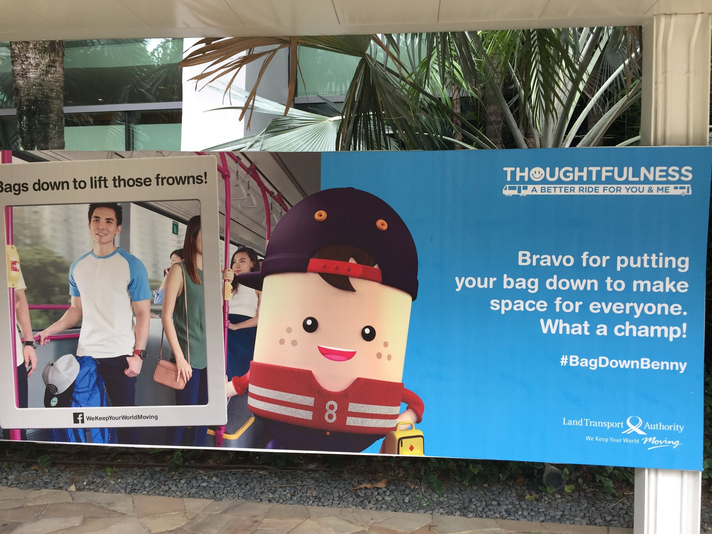 This kind of public behavioral encouragement is all over Singapore.