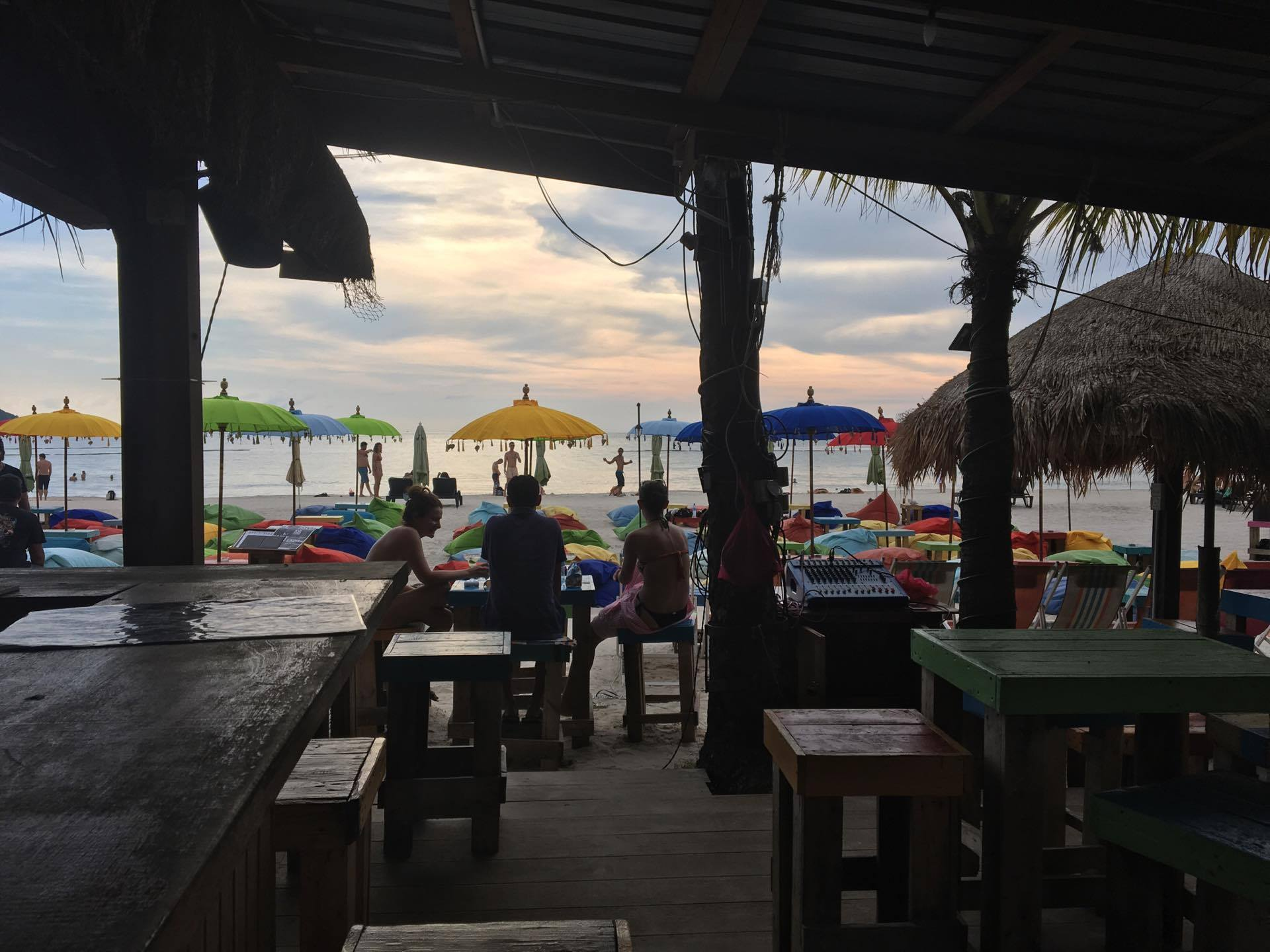 The view from our go-to beach bar in Langkawi, where the owner generously offered me a dj residency.