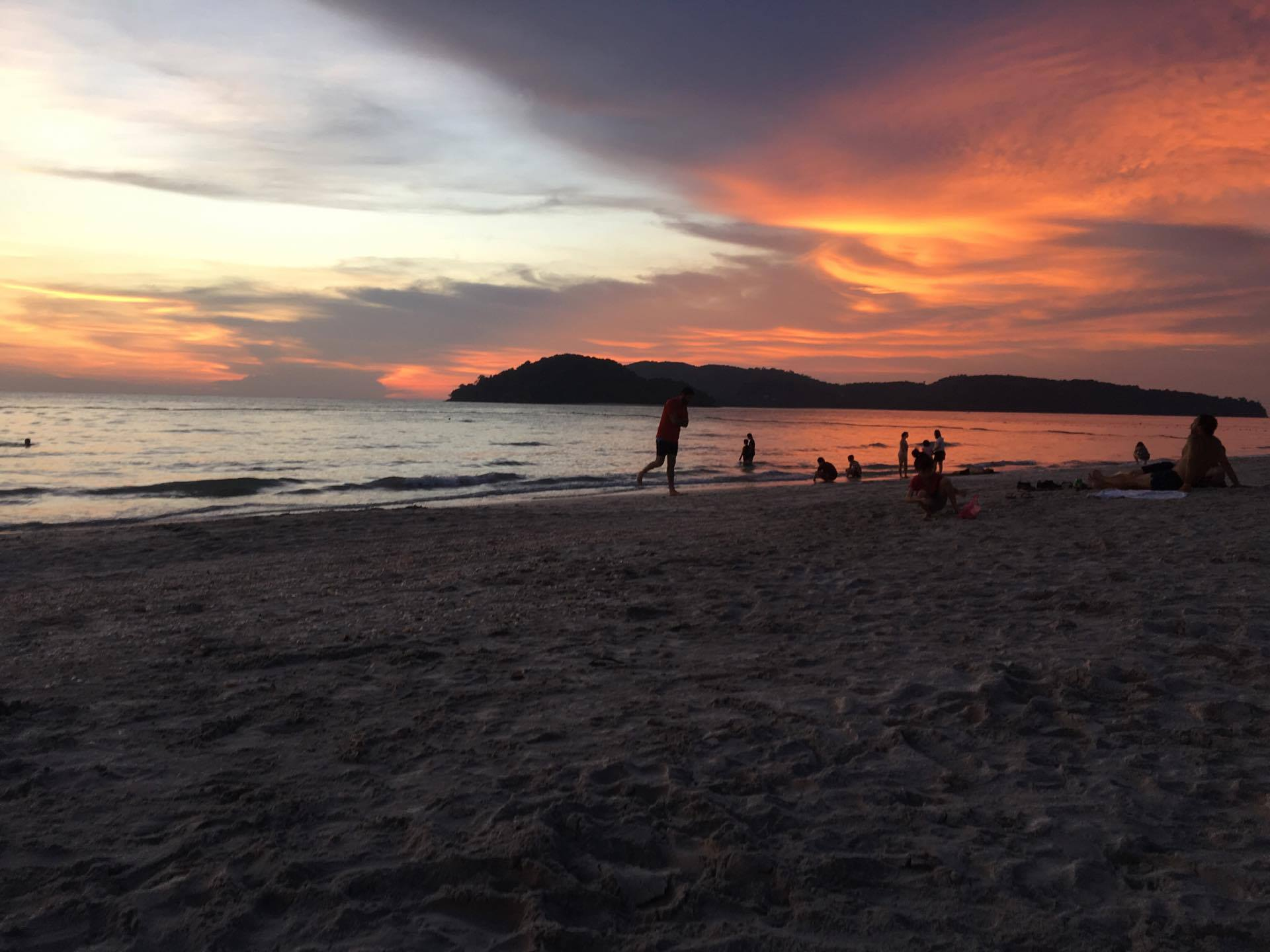 Sunset views from the hostel beach.