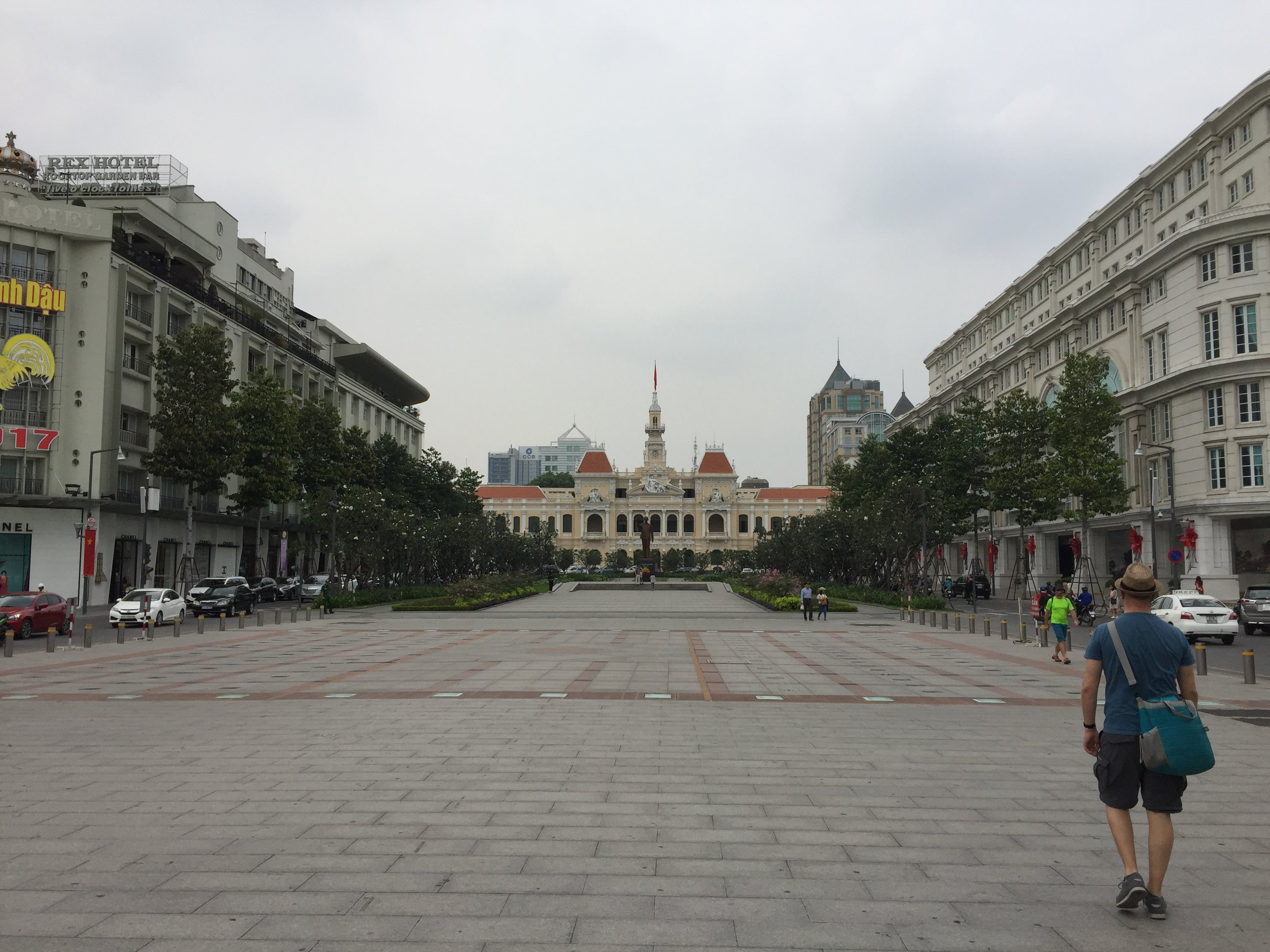 Ho Chi Minh City Hall, at the end of Nguyễn Huệ pedestrian boulevard, named for an 18th-century emperor.