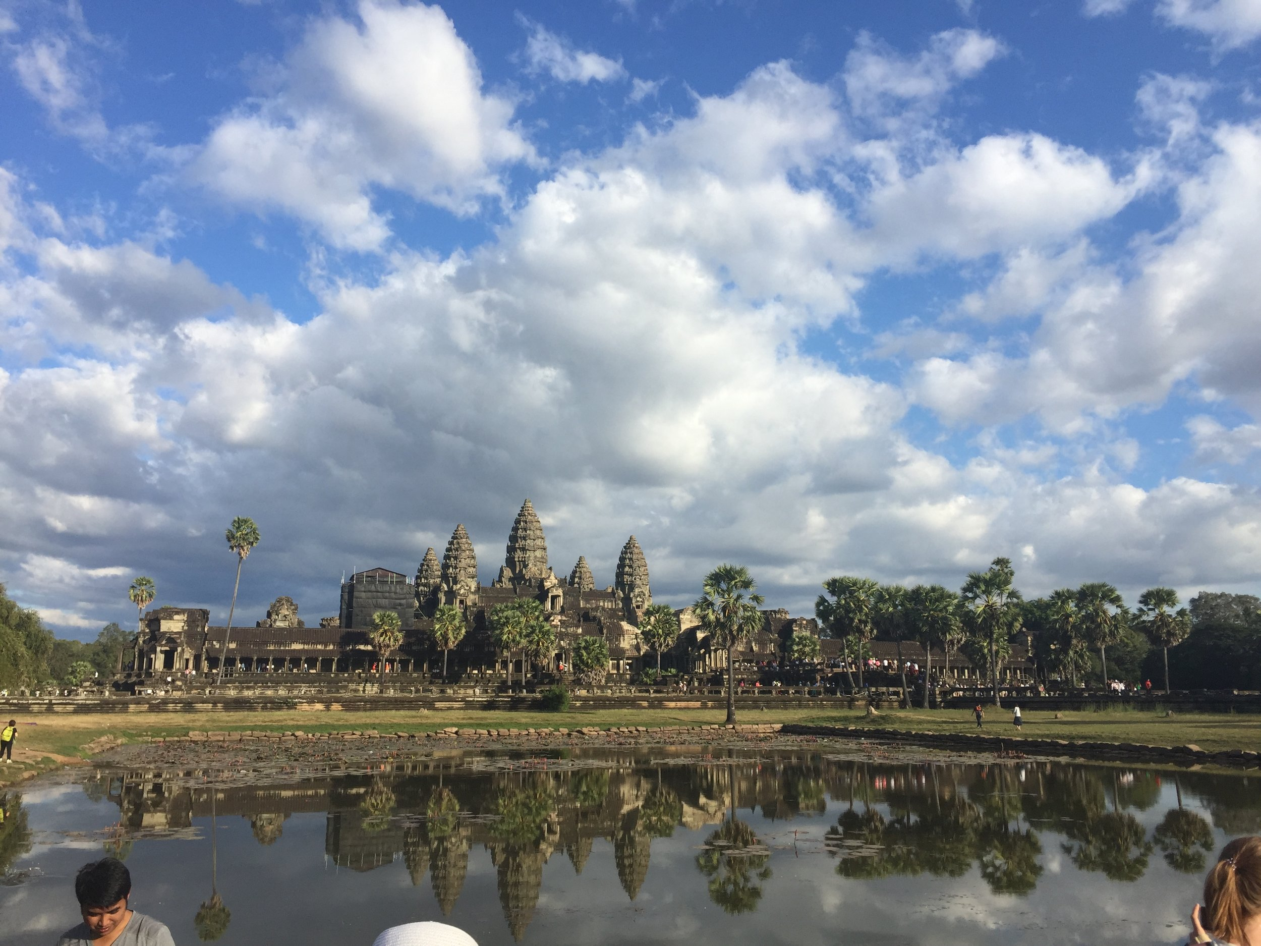 We made plans on NYE to catch the first sunrise of the year over Angkor Wat...