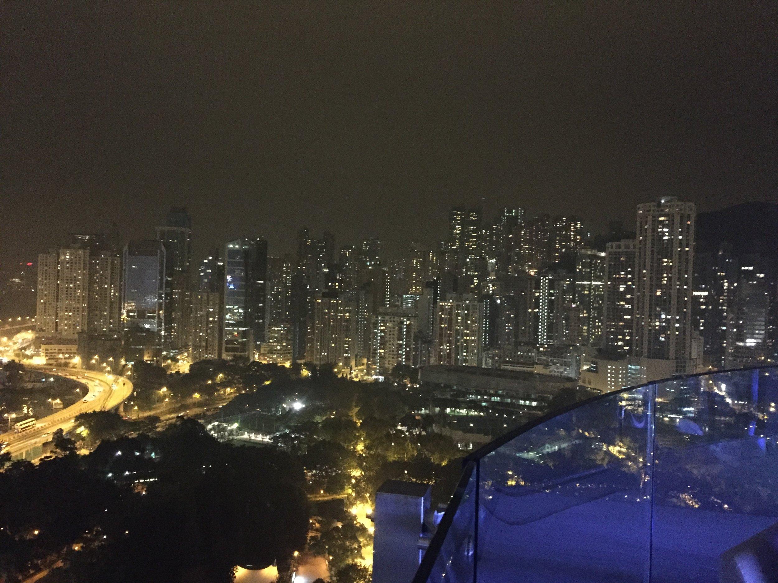 City views from Skye Bar...
