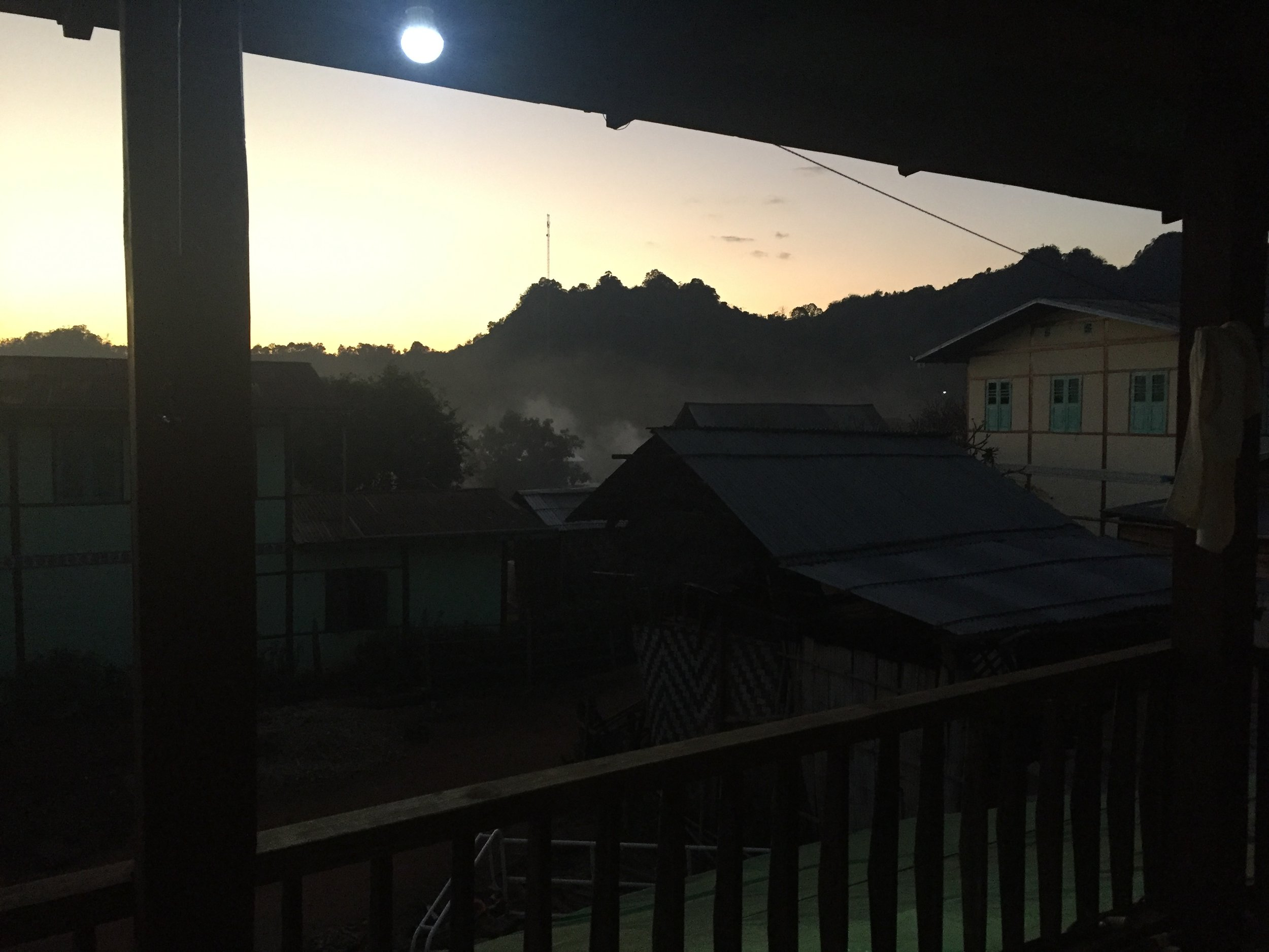 The view from our homestay in Khon Hla.