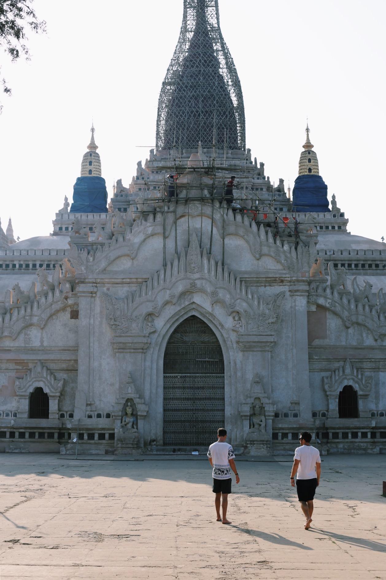 Exploring Ananda Temple. (p/c Sarah Hoffman)