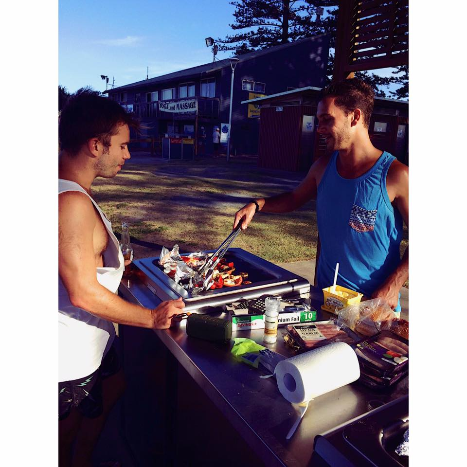 A well-deserved beach grill session with Chef Niko. (p/c Hetta Carthew)