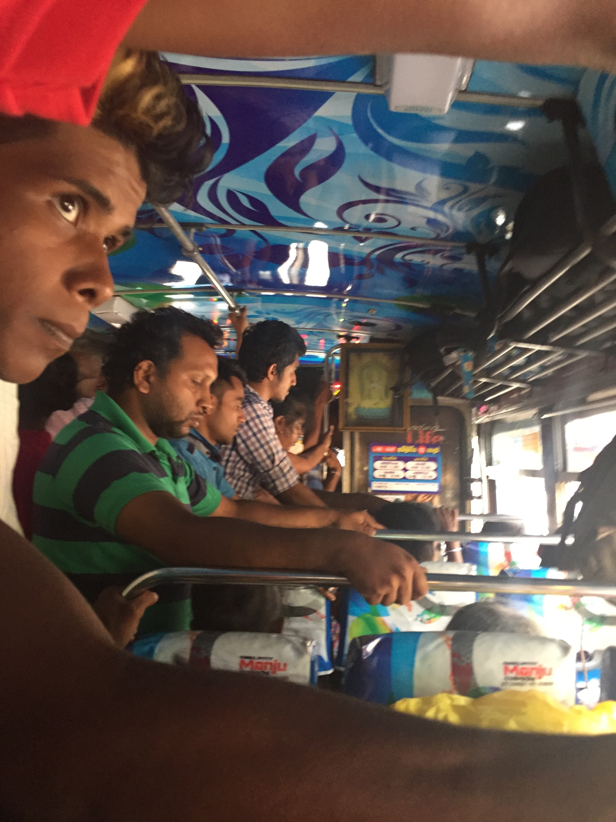Not even standing room left on this 5-hour bus ride to Colombo.