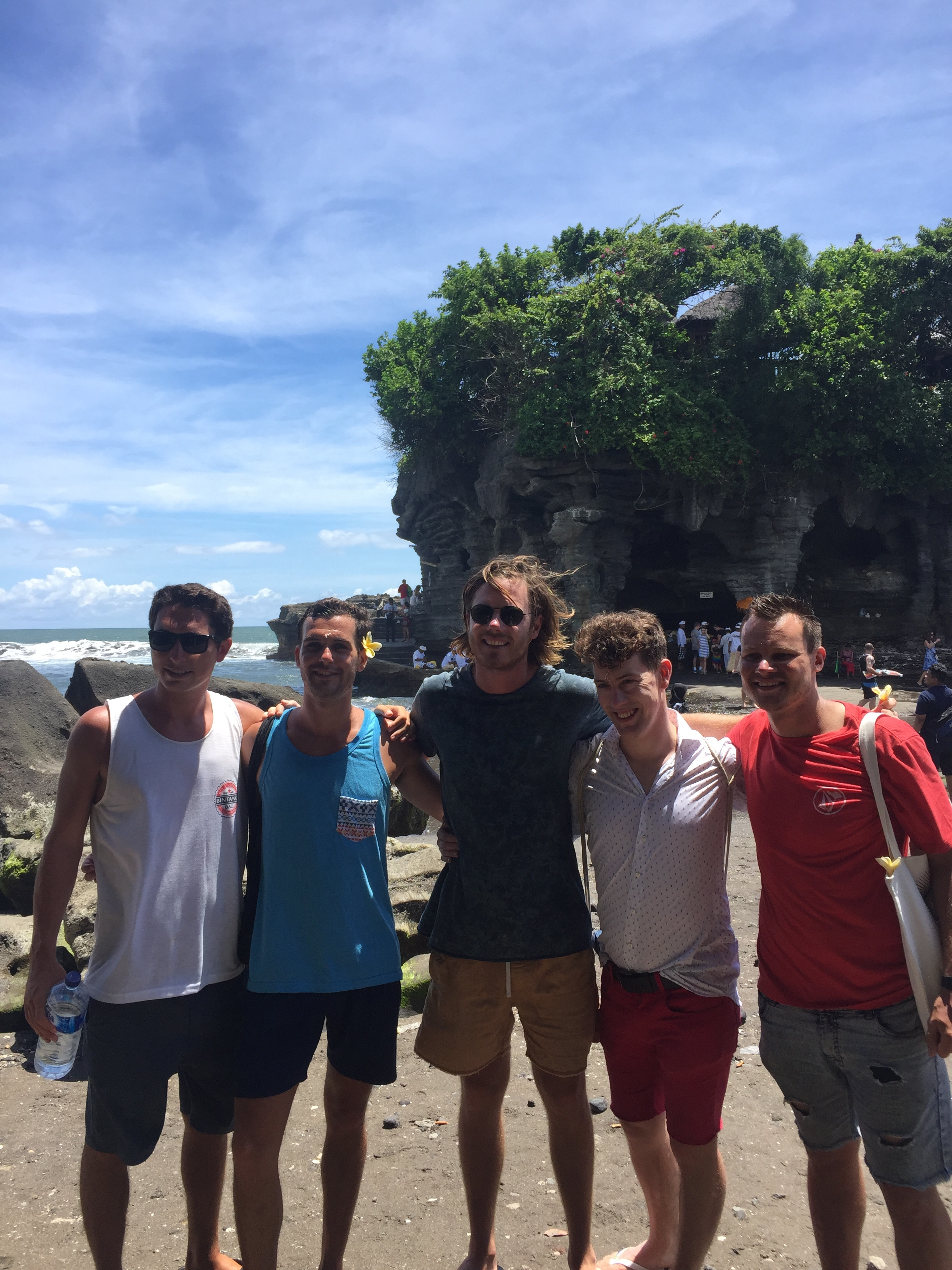Our Tanah Lot squad - after receiving monks' blessings.