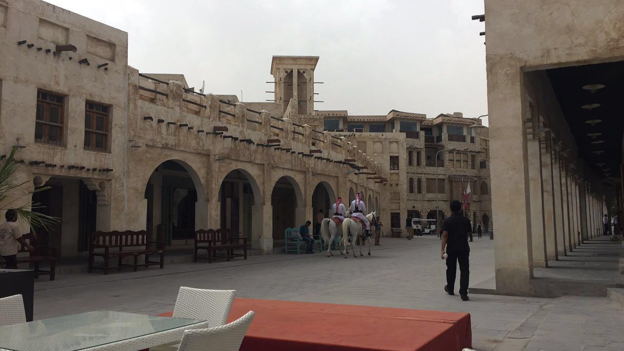 Monday morning isn't exactly rush hour in Doha's Souq Waqif.