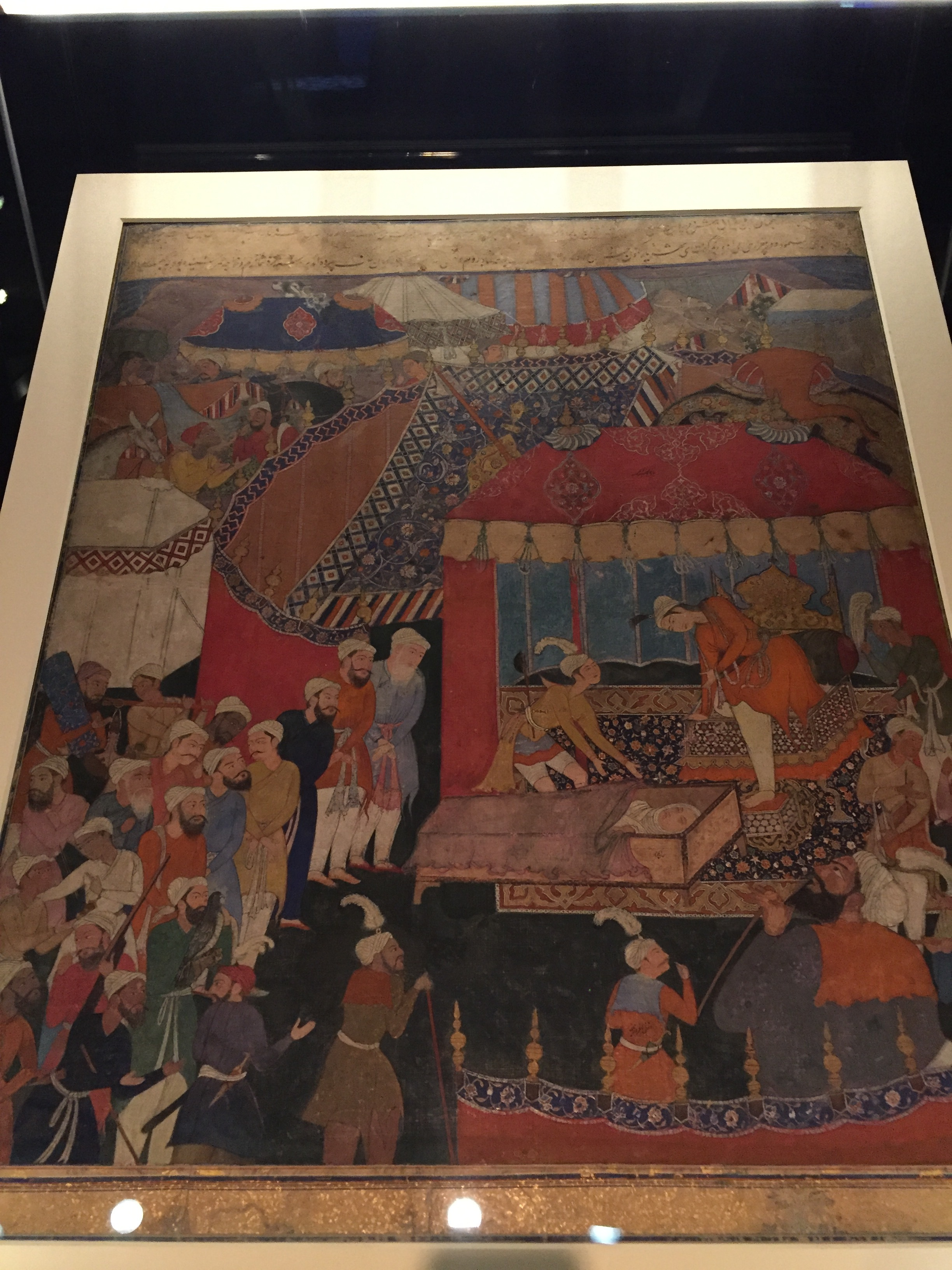 Old battle scenes from Quranic scripture.