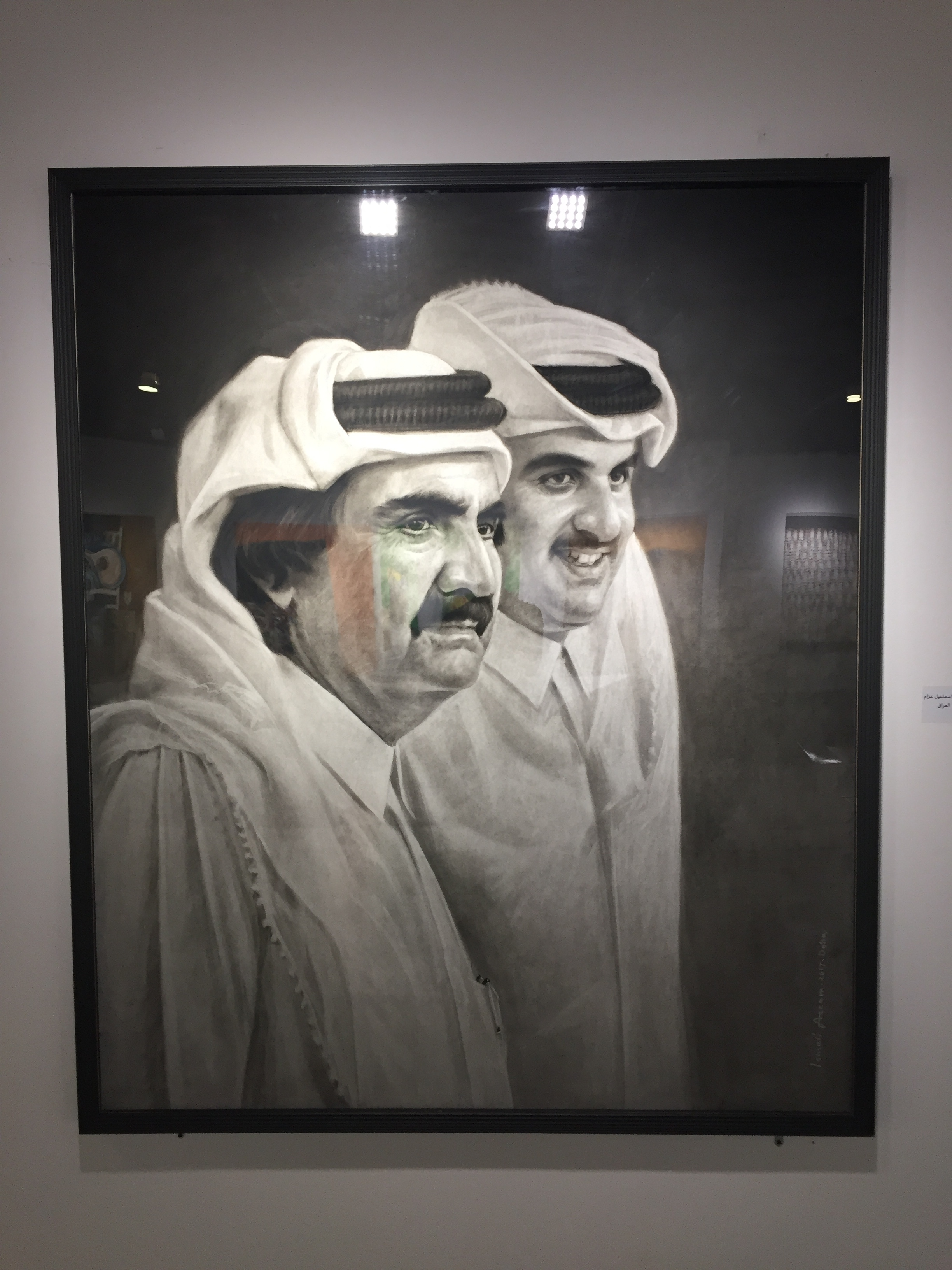 Qatar's new and old leaders, the Sheikhs Al Thani.