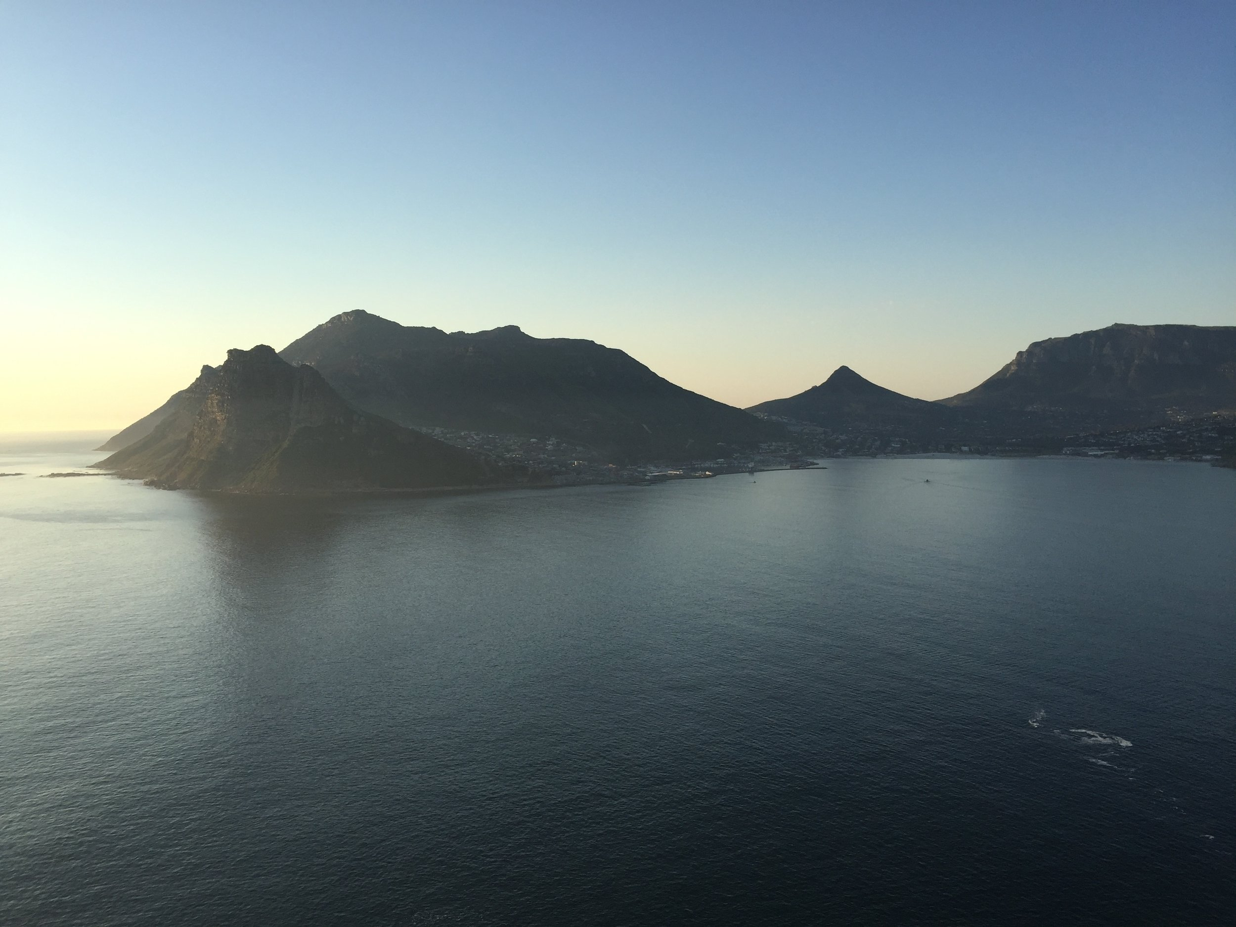 Sunsets from the cliffs over Hout Bay.