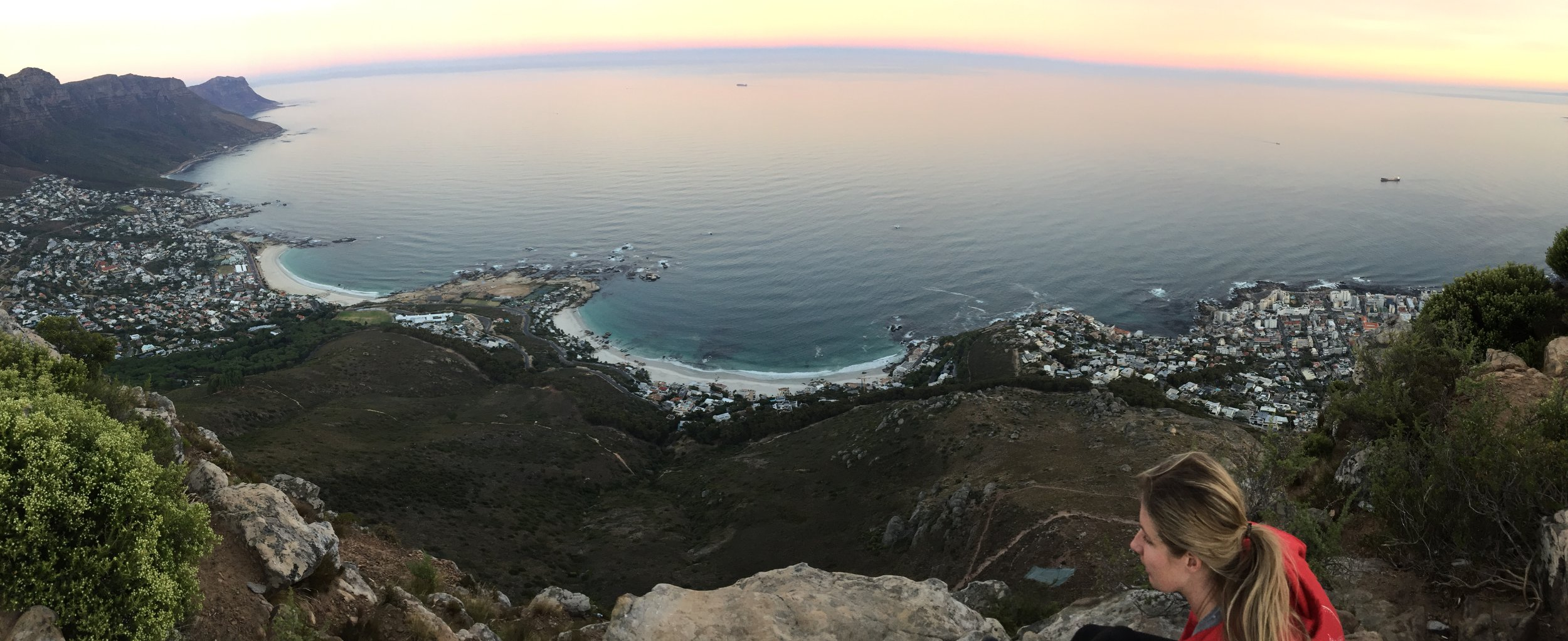 The views from the top of Lion's Head hike in Cape Town. Dan, Sarah, and I somehow got ourselves to wake up at 5:30am to see sunrise from the top of the mountain.