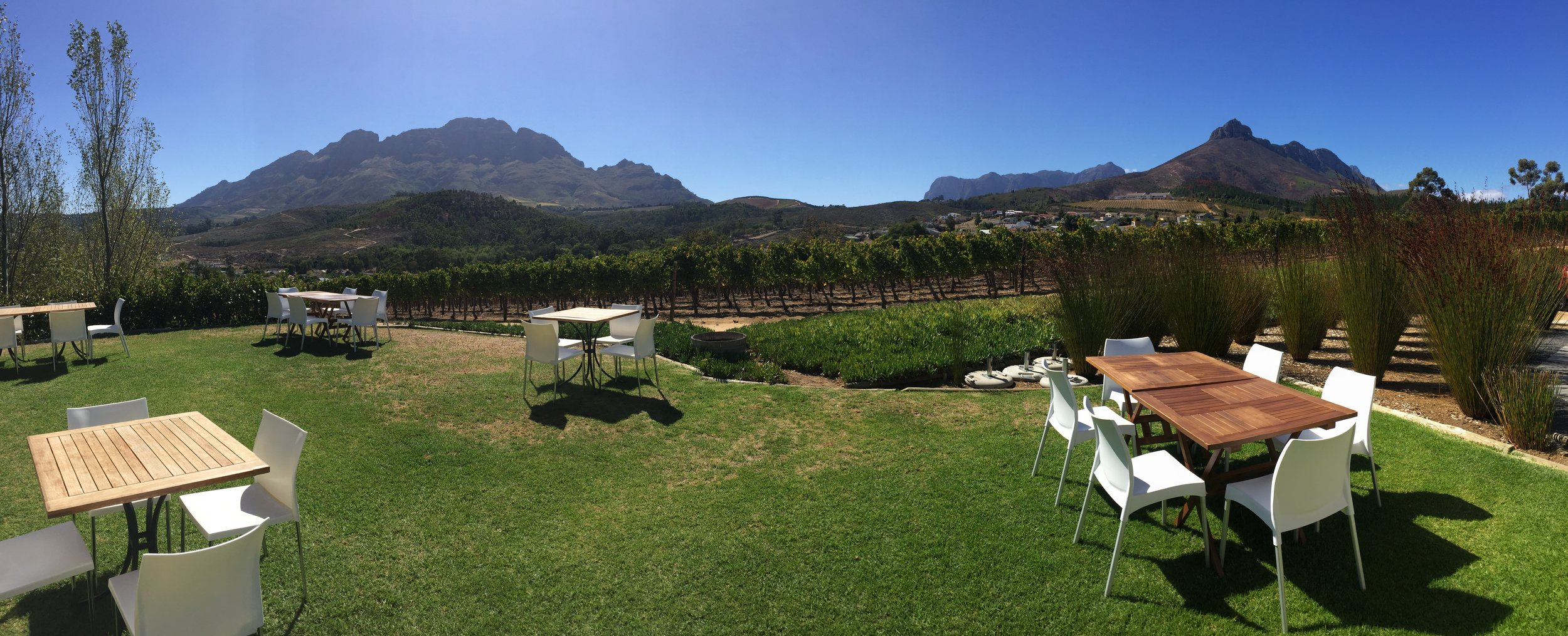 The views weren't all bad from the Tsiba Tsiba wine tour.