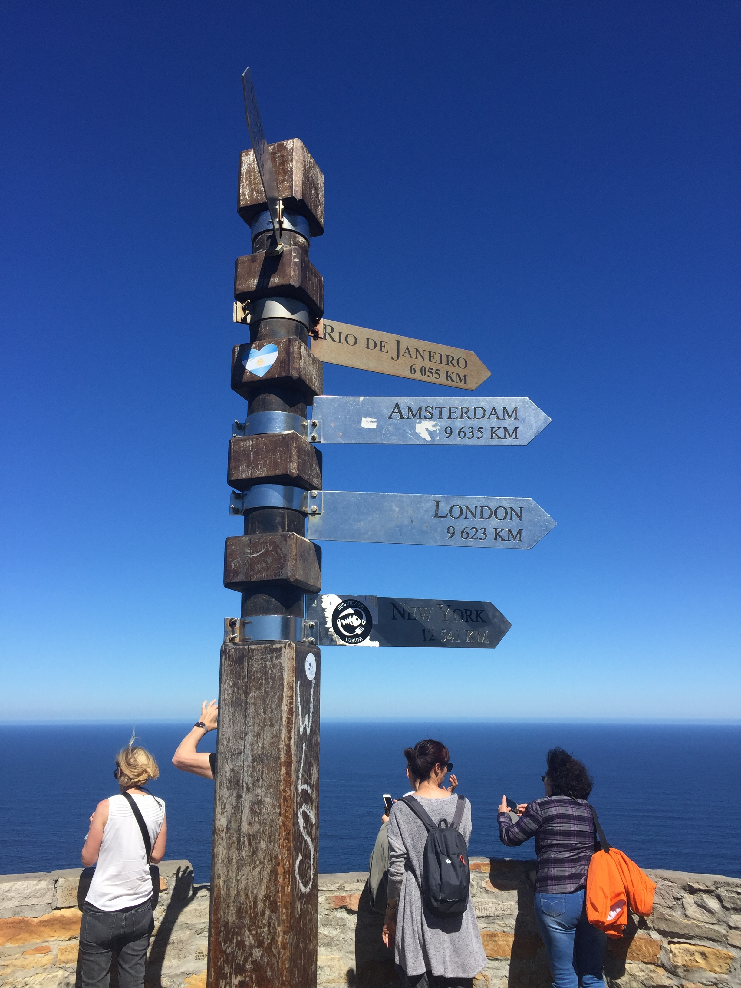 The last street sign: Cape of Good Hope.