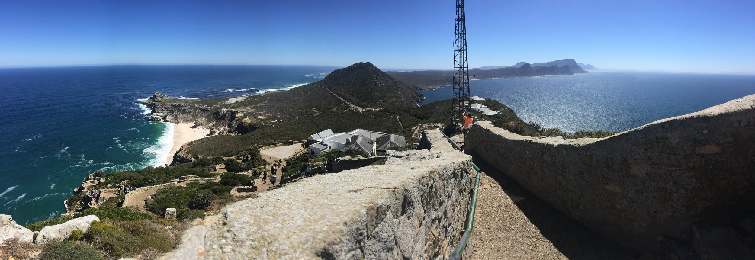 Looking back at the African continent from the tip of the Cape of Good Hope.