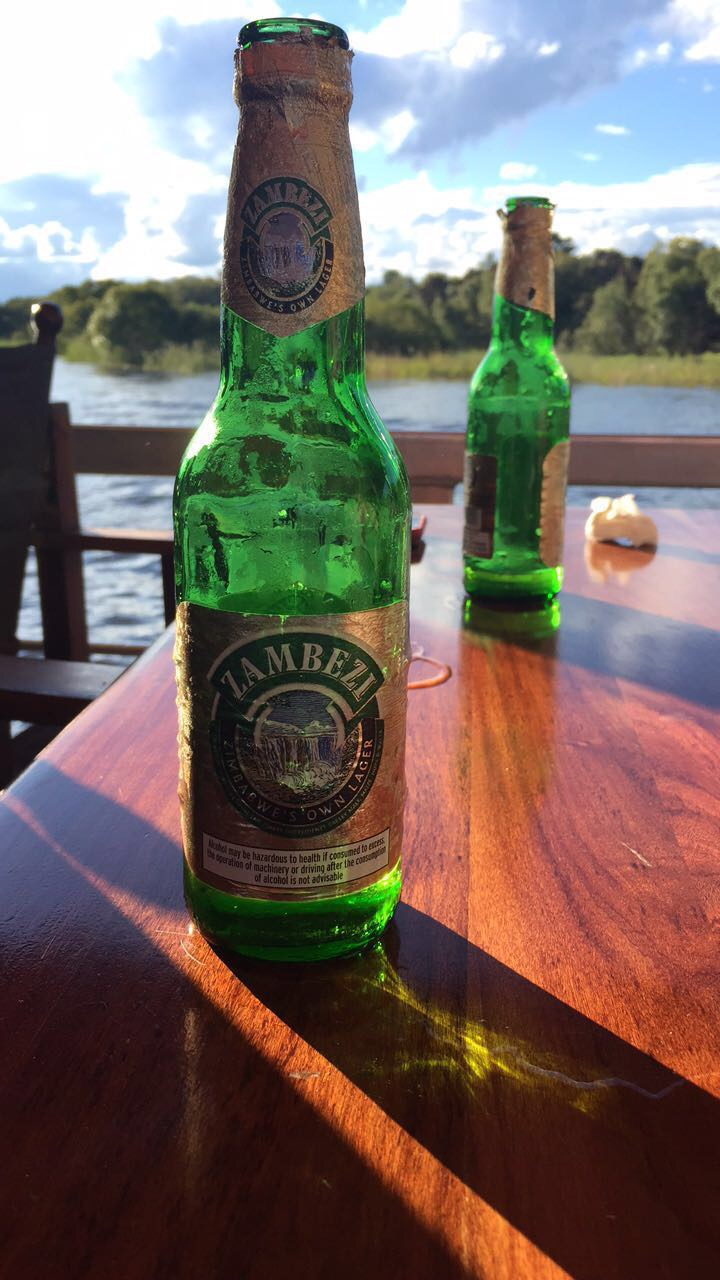 The local beers, named for the Zambezi River...