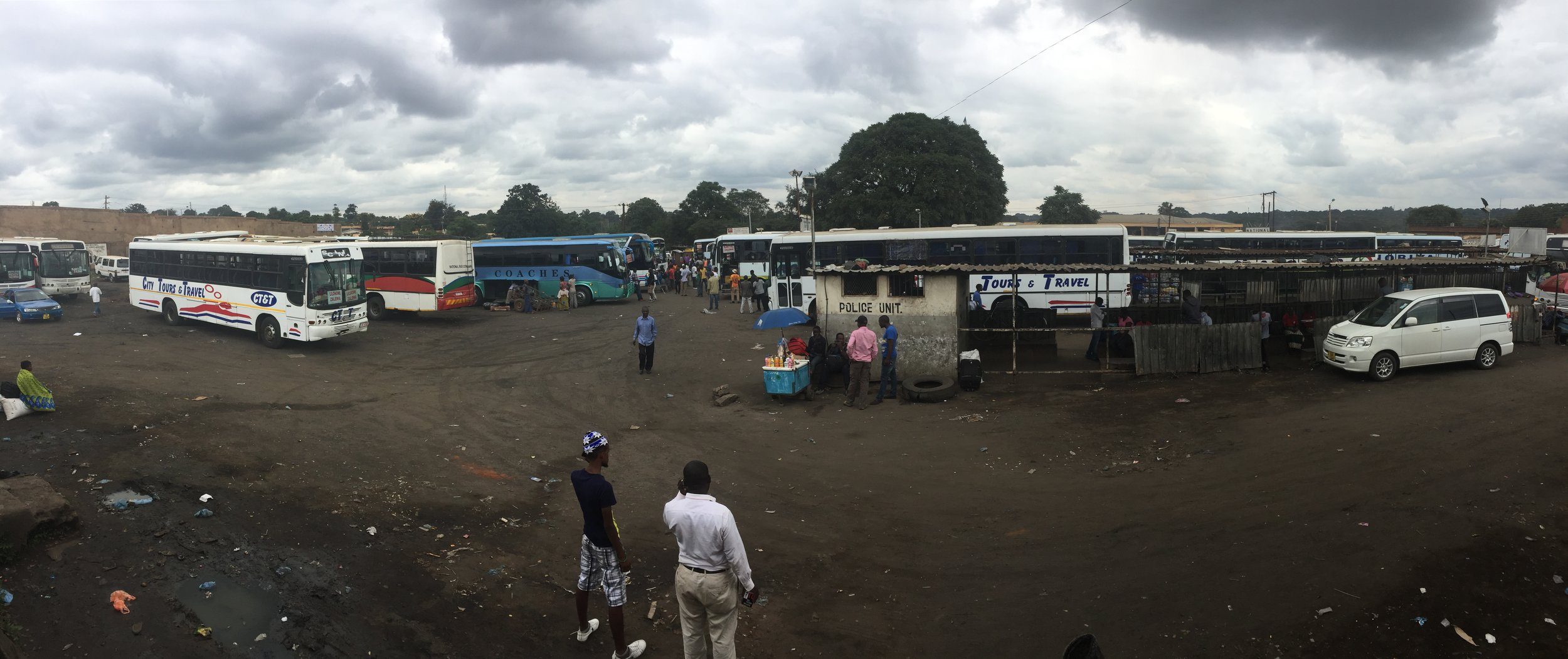 Not much happens at the Lilongwe bus stations, where travelers sit for hours waiting for their buses to load up with enough passengers enough to leave.