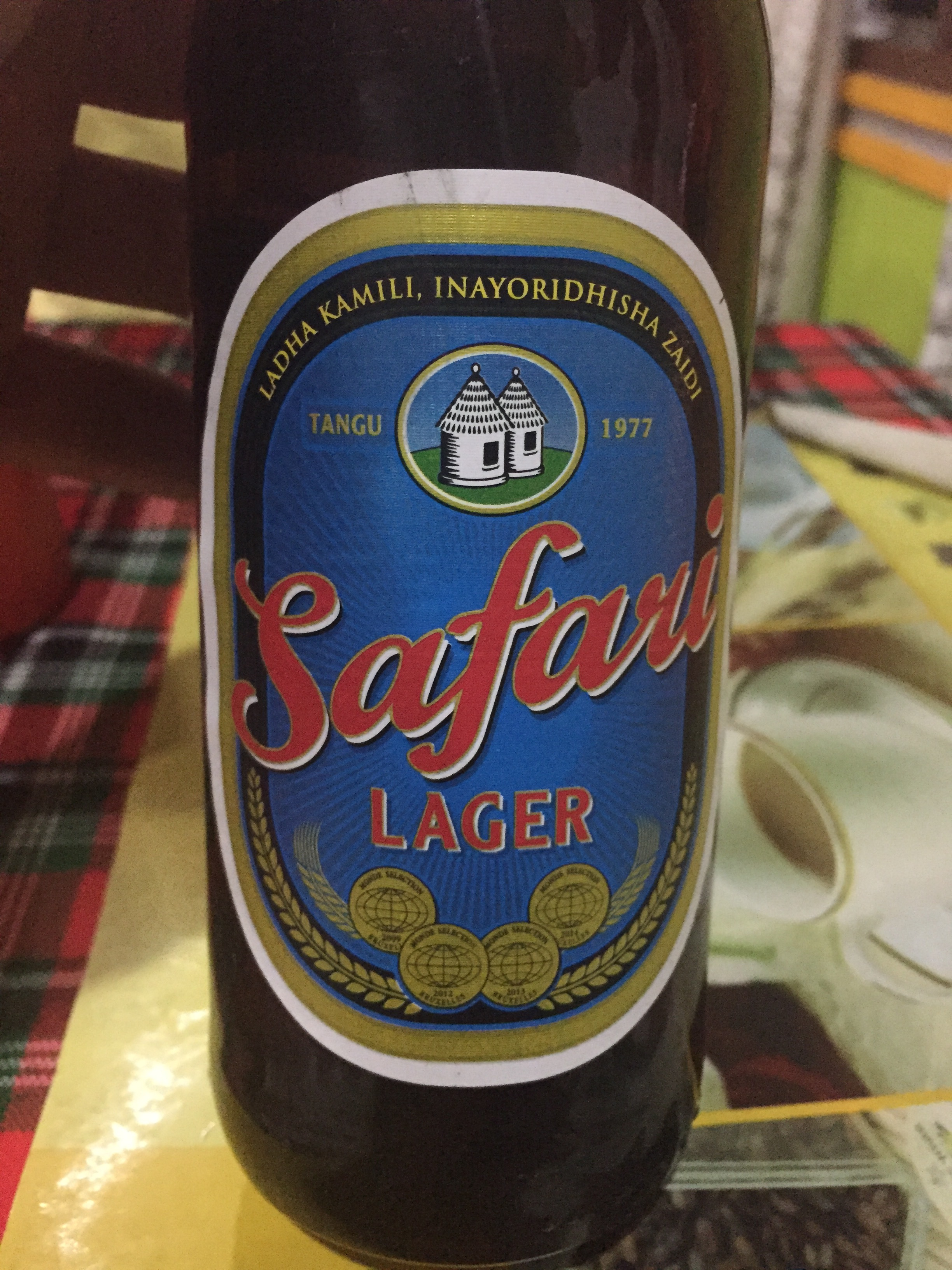 Tanzania's local brand of beer...