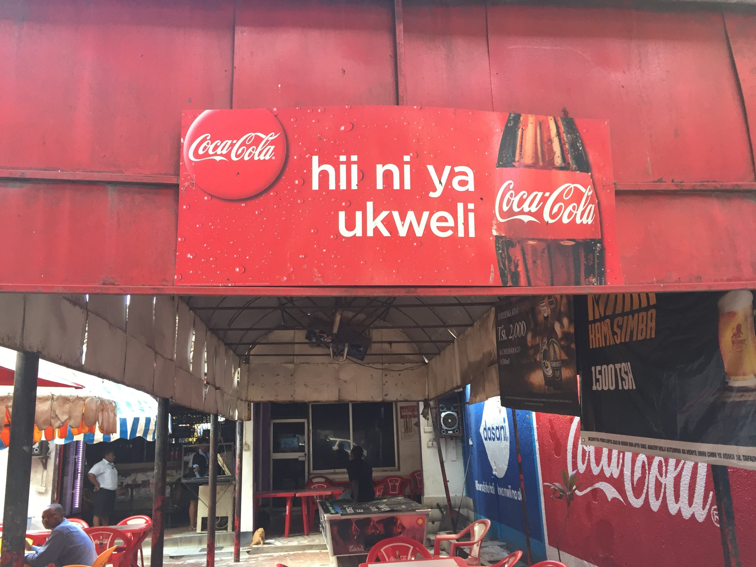 Enjoy Coke - the Swahili way.