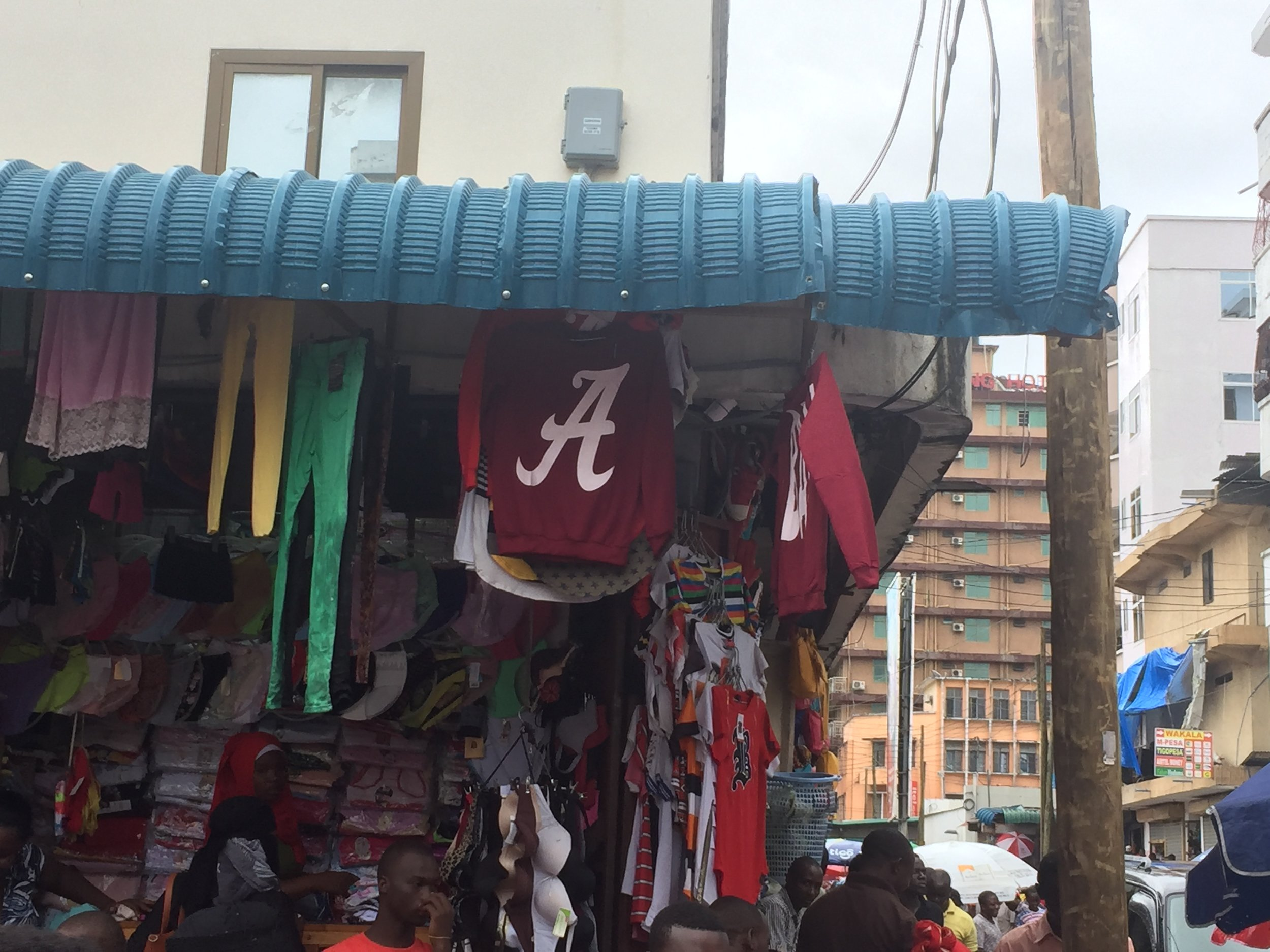 Every team gets knockoff gear made in Tanzania.
