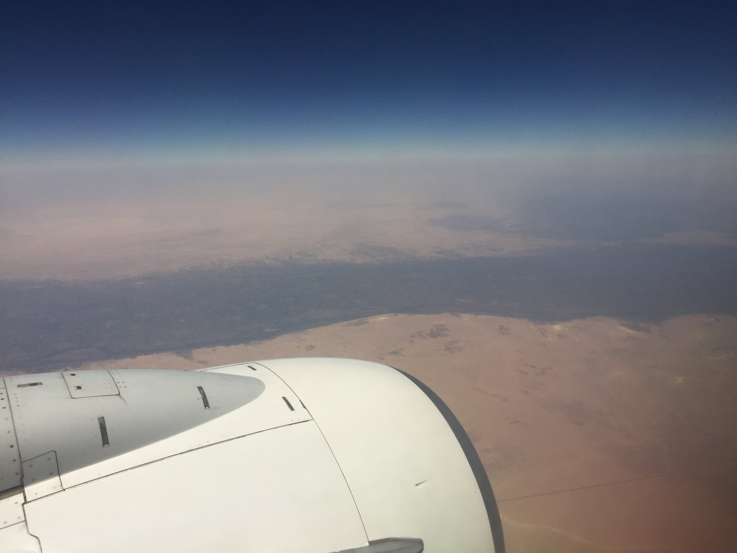 The Nile cutting through the Sahara.
