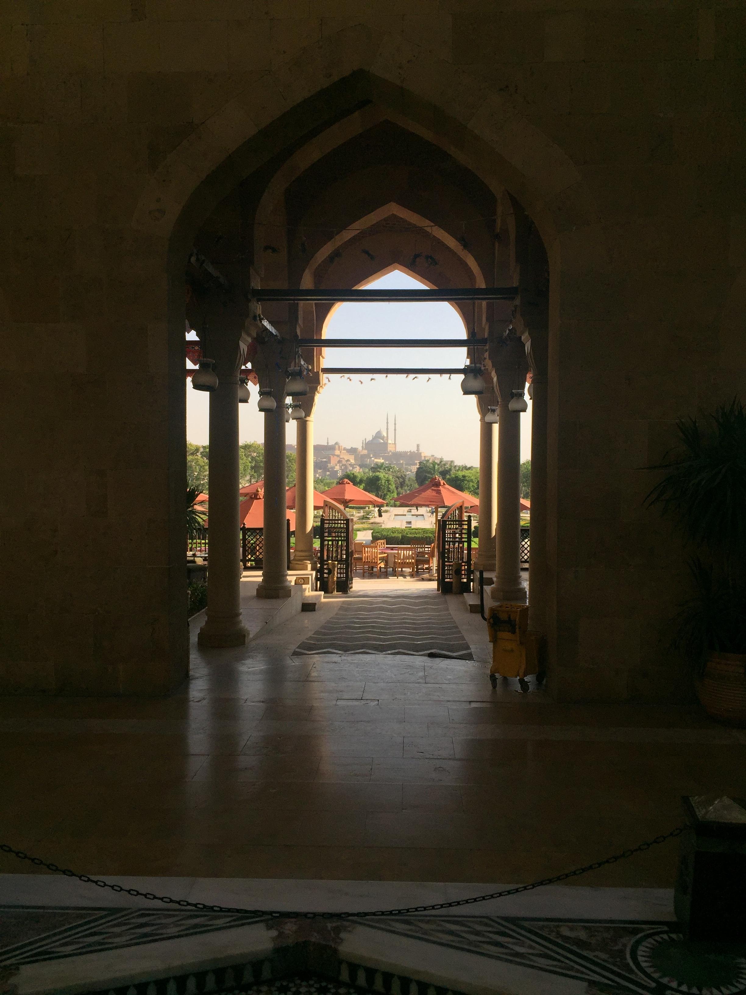Al Azhar's restaurant opens out onto the Citadel.