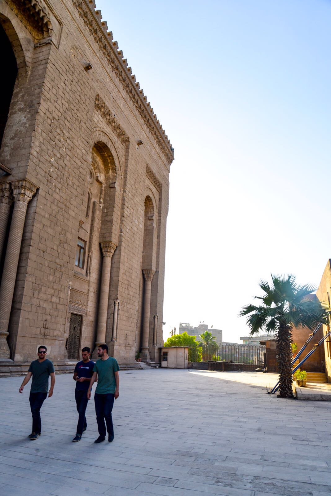 Walking by the Al-Rifa'i Mosque, where the Shah of Iran lays buried.