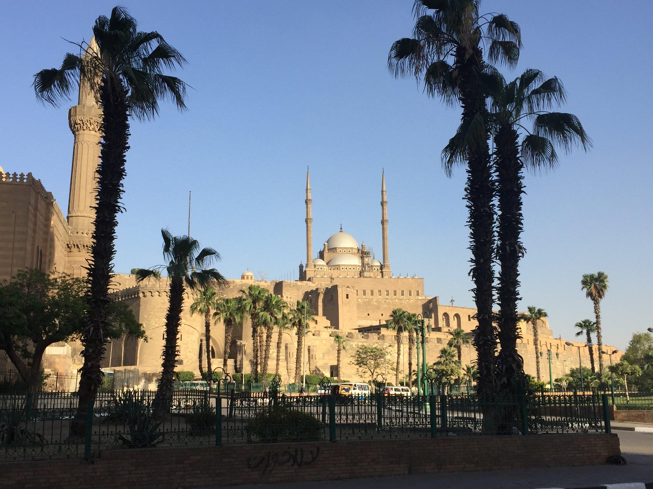 The citadel seen from the Al-Rifa'i Mosque.