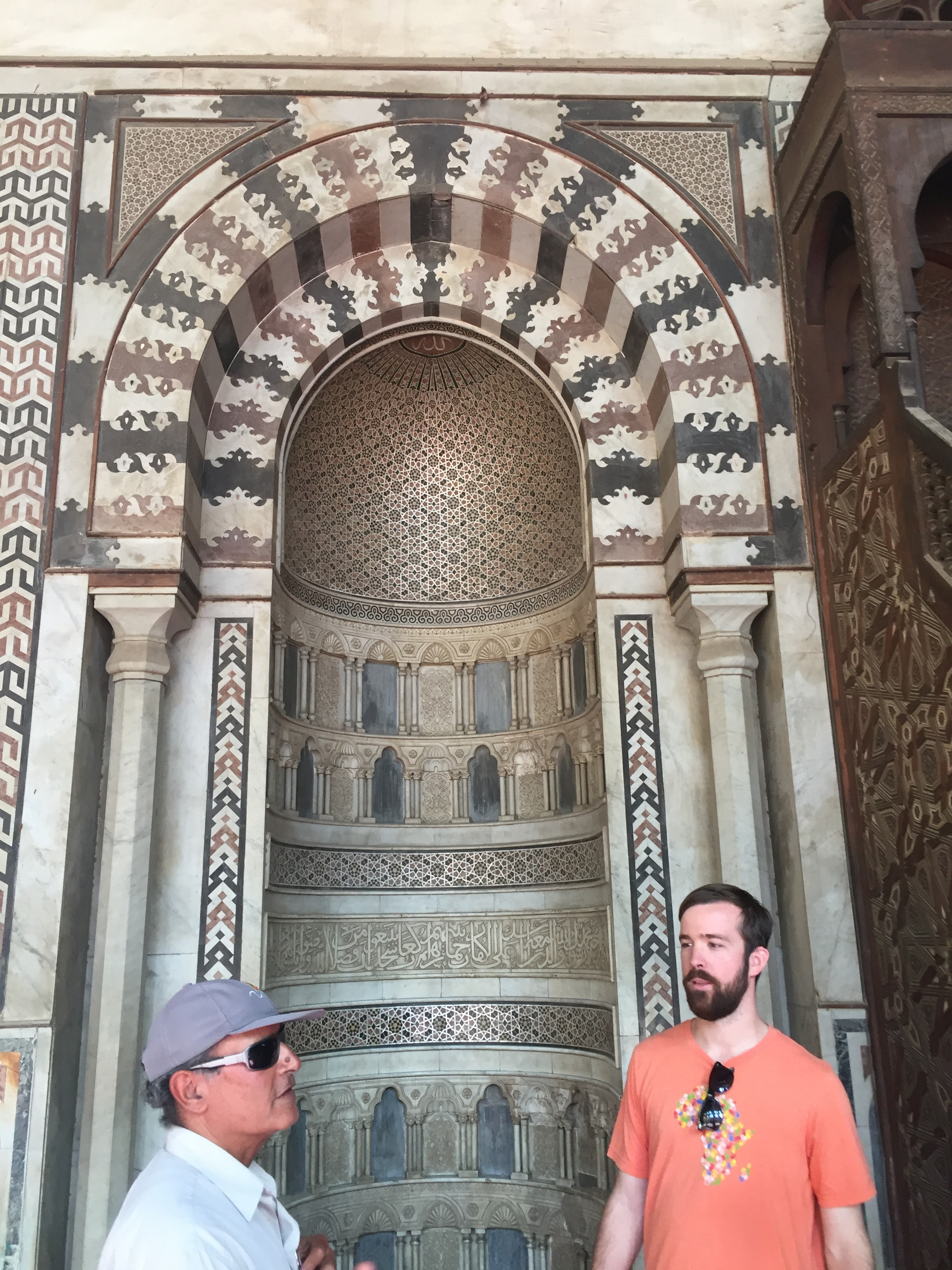 Our tour guide and Rob at the Citadel's new pulpit.