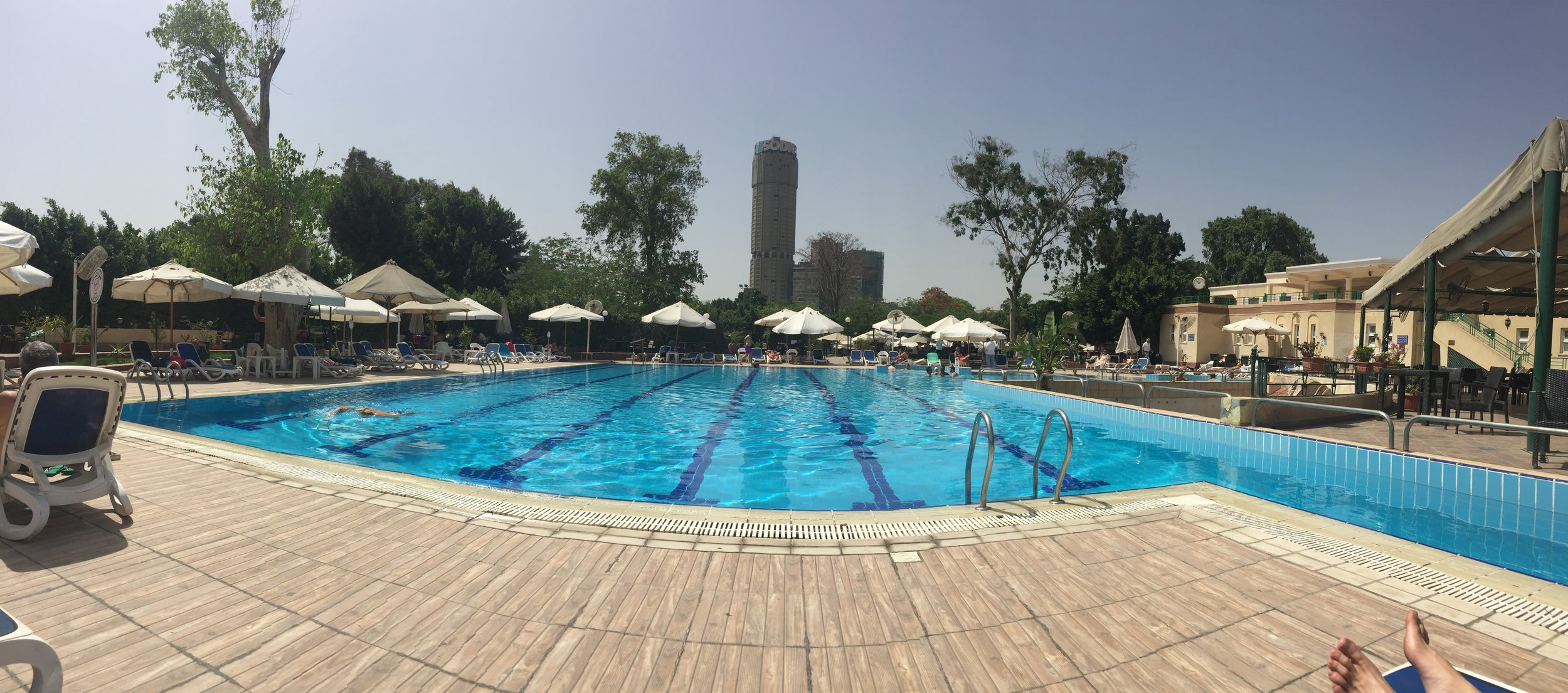 We spent a day with Mo lounging at his old pool in the Al Gazira Club, the Zamalek equivalent of a country club. His uncle used to be a polo star at the club.