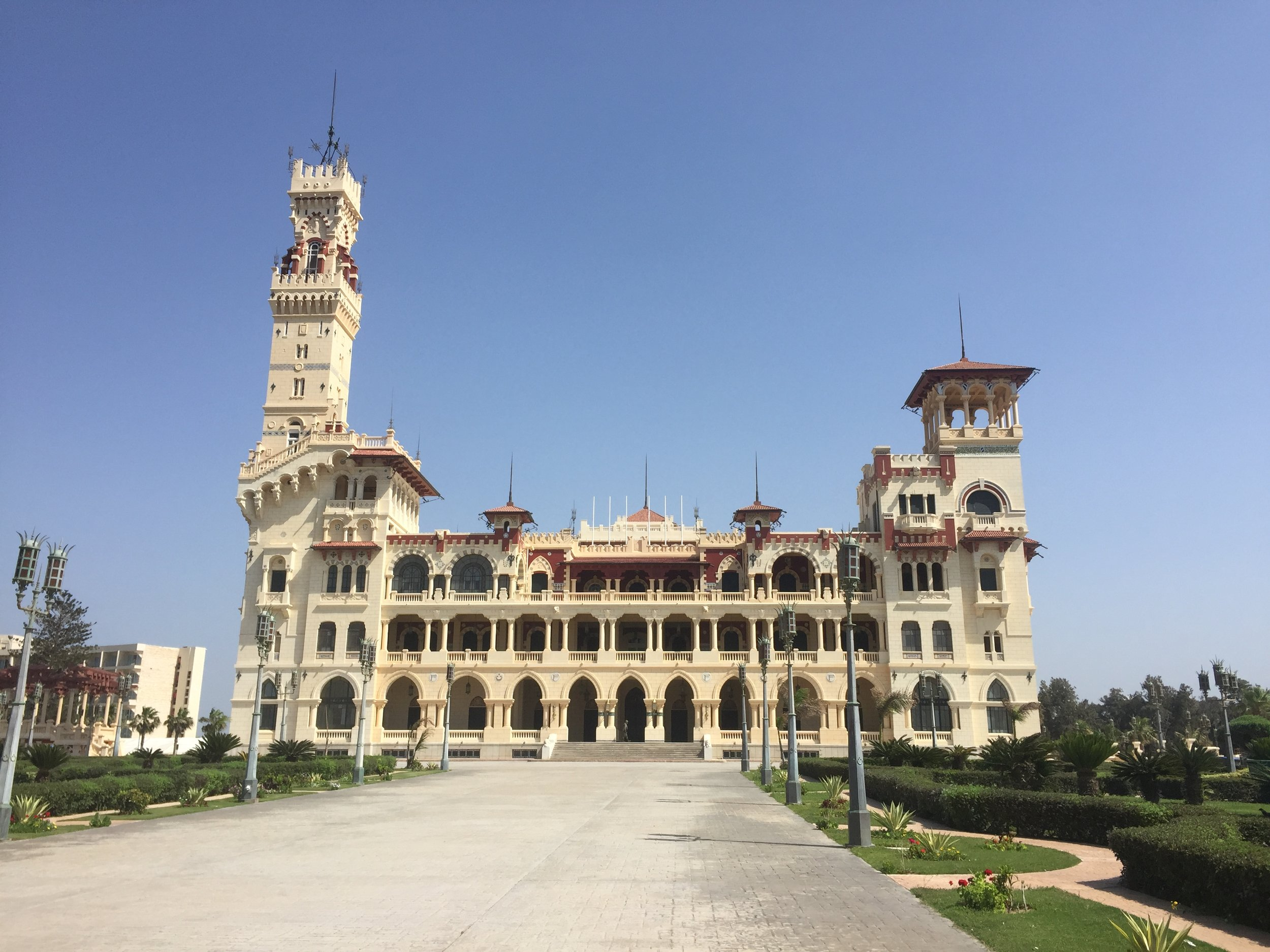 The king's summer palace in Alexandria.