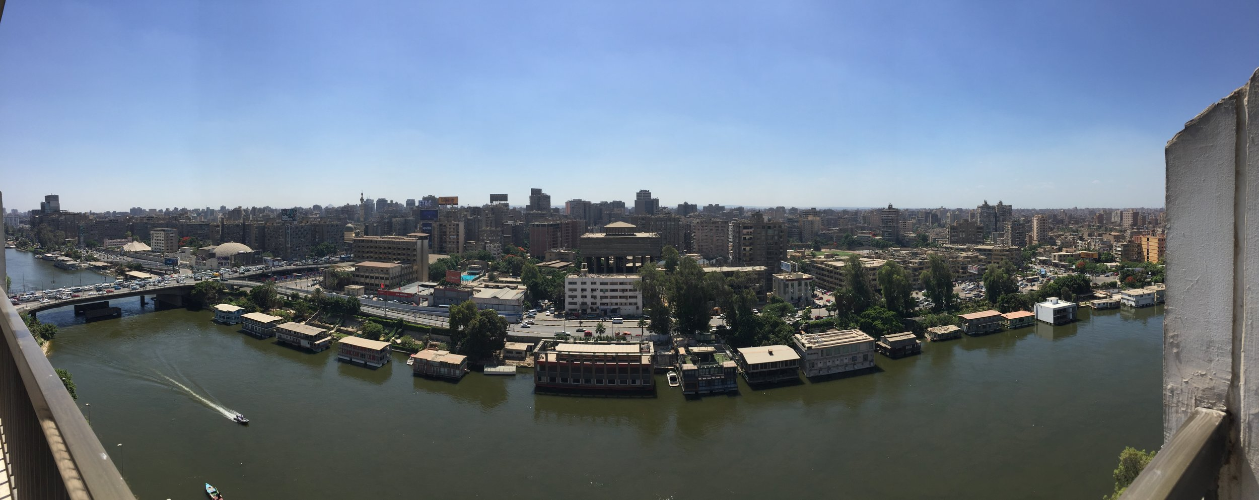 The view from our room at the Om Kolthoum.