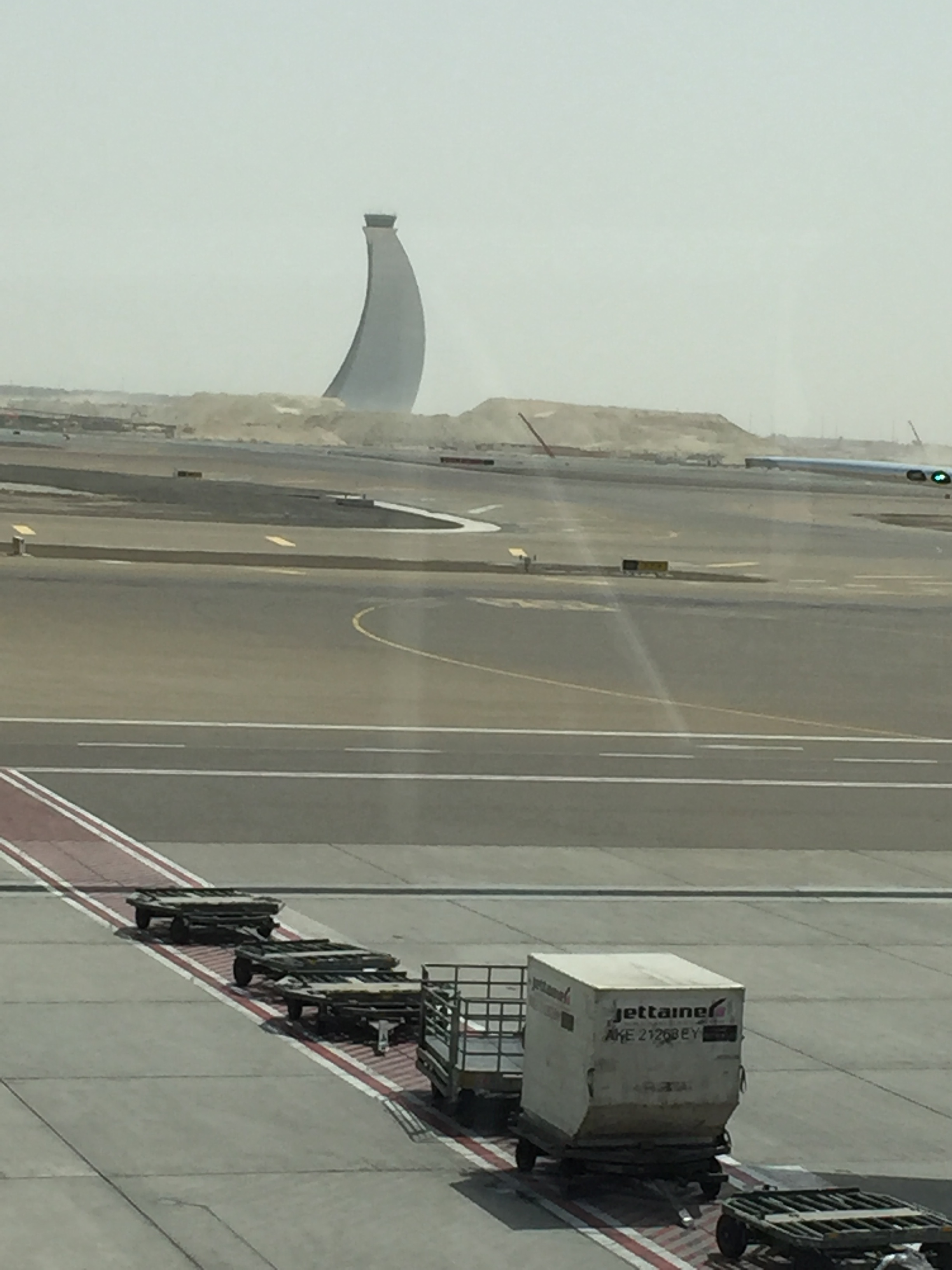 Views from the Abu Dhabi airport, my connection where my emergency passport got me in trouble one last time.