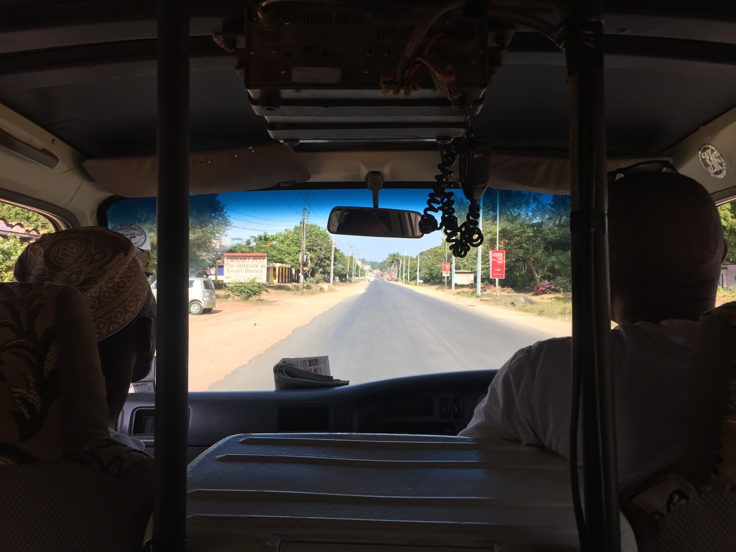 Tuk-tuking back from Safari Beach Gym, which is a real place.