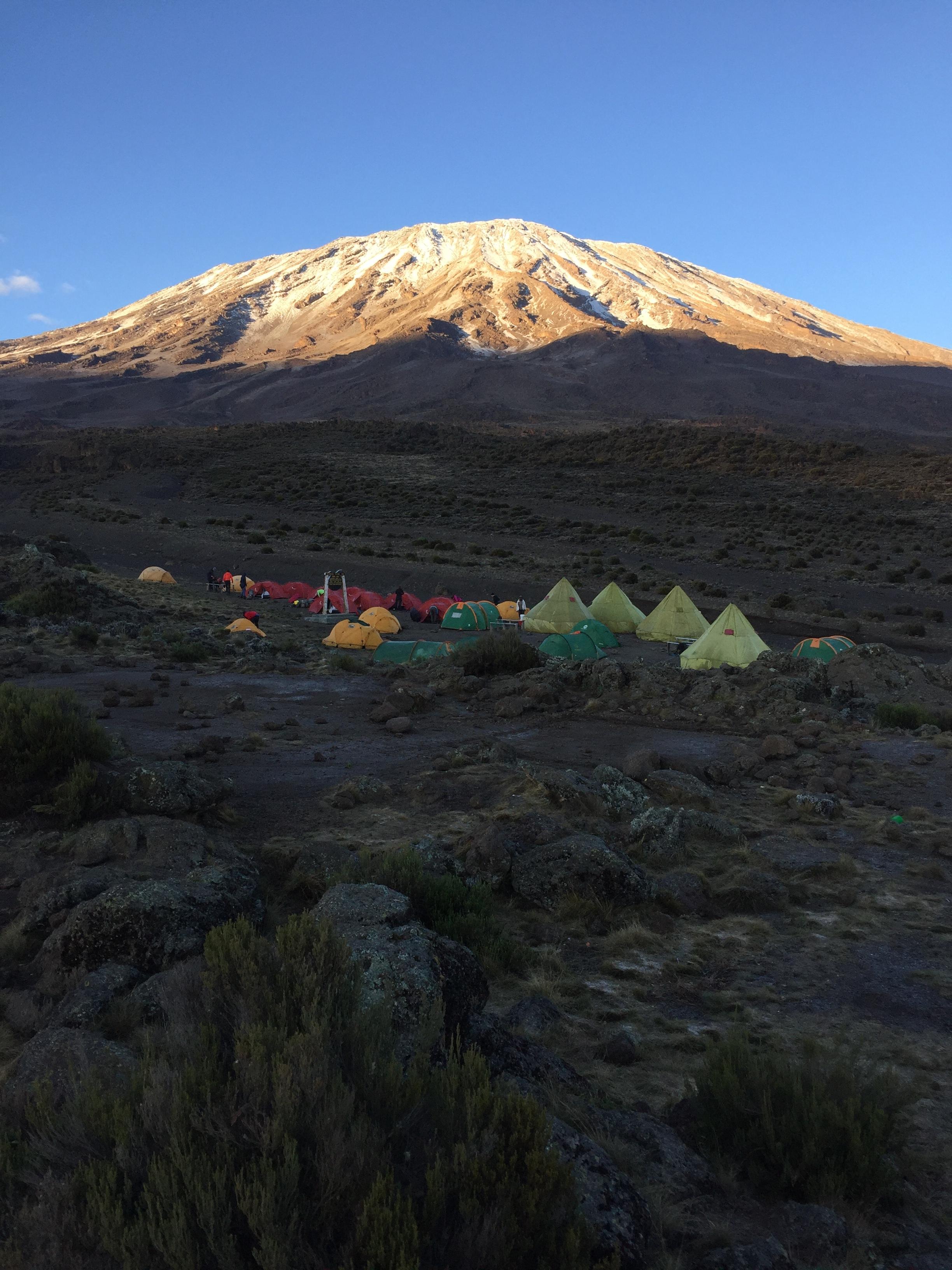 The main mountain that Uhuru Peak sits on top of is called Kibo.