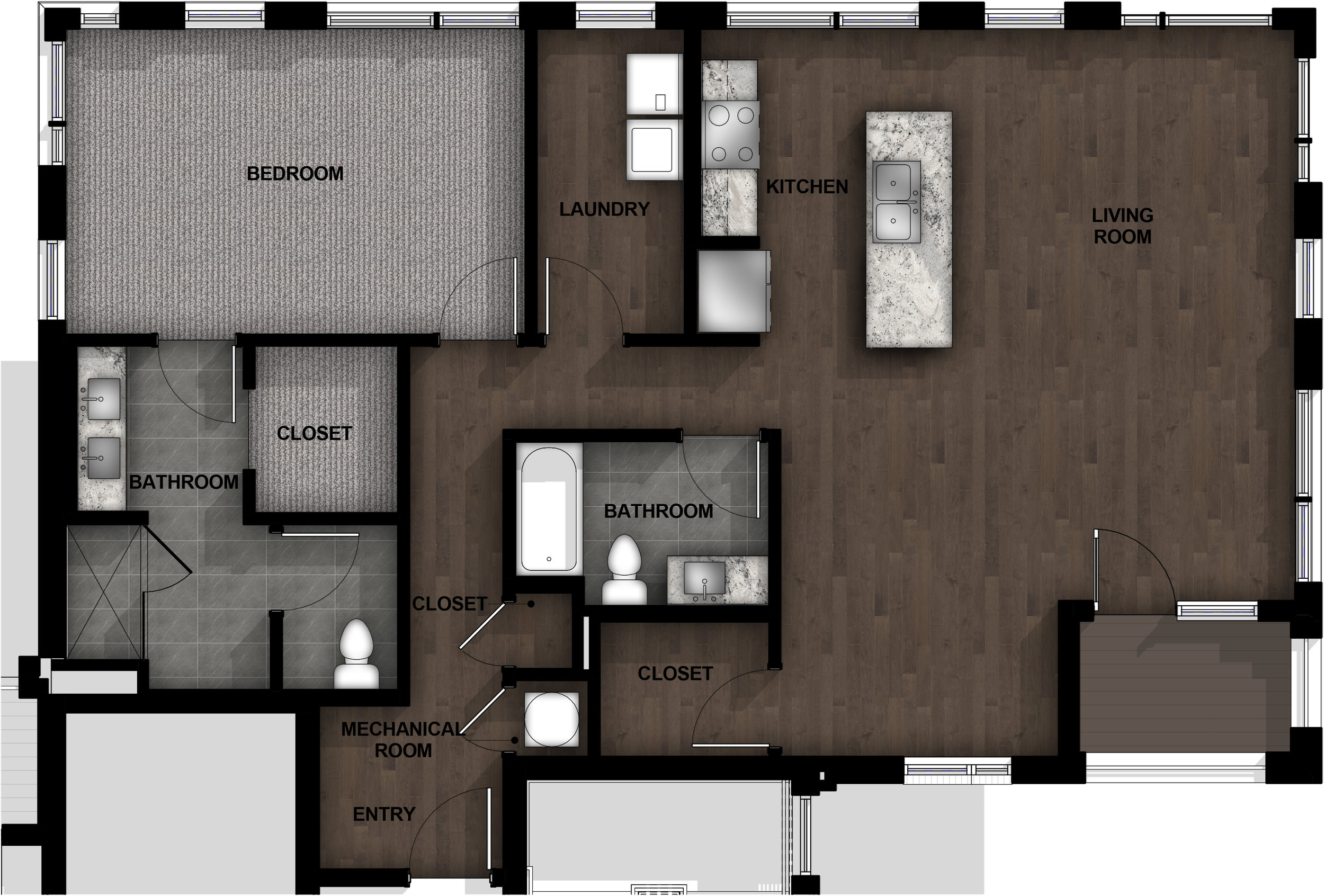 1 Bedroom | Layout B12