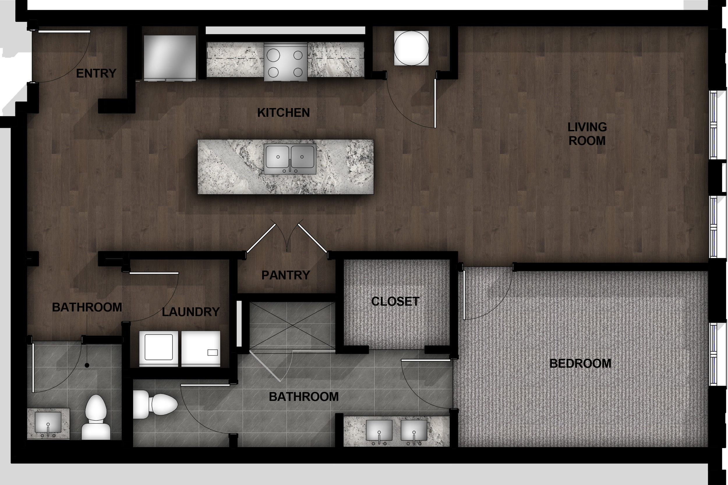 1 Bedroom | Layout A1