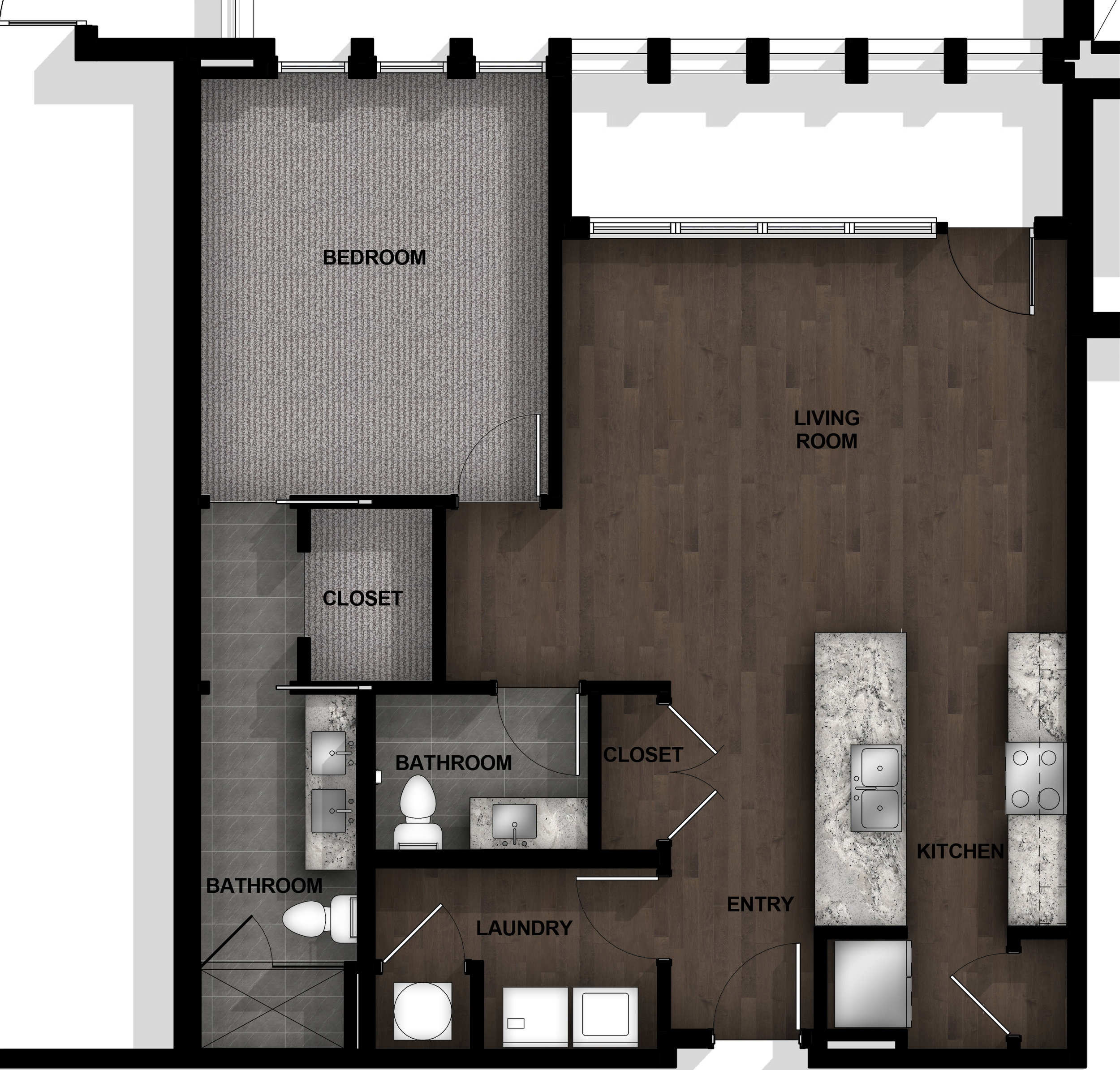 1 Bedroom | Layout B9