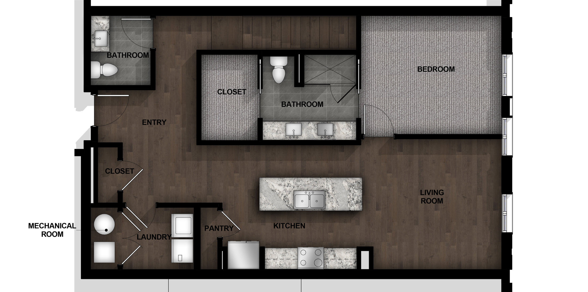 Townhome | Layout B1-2