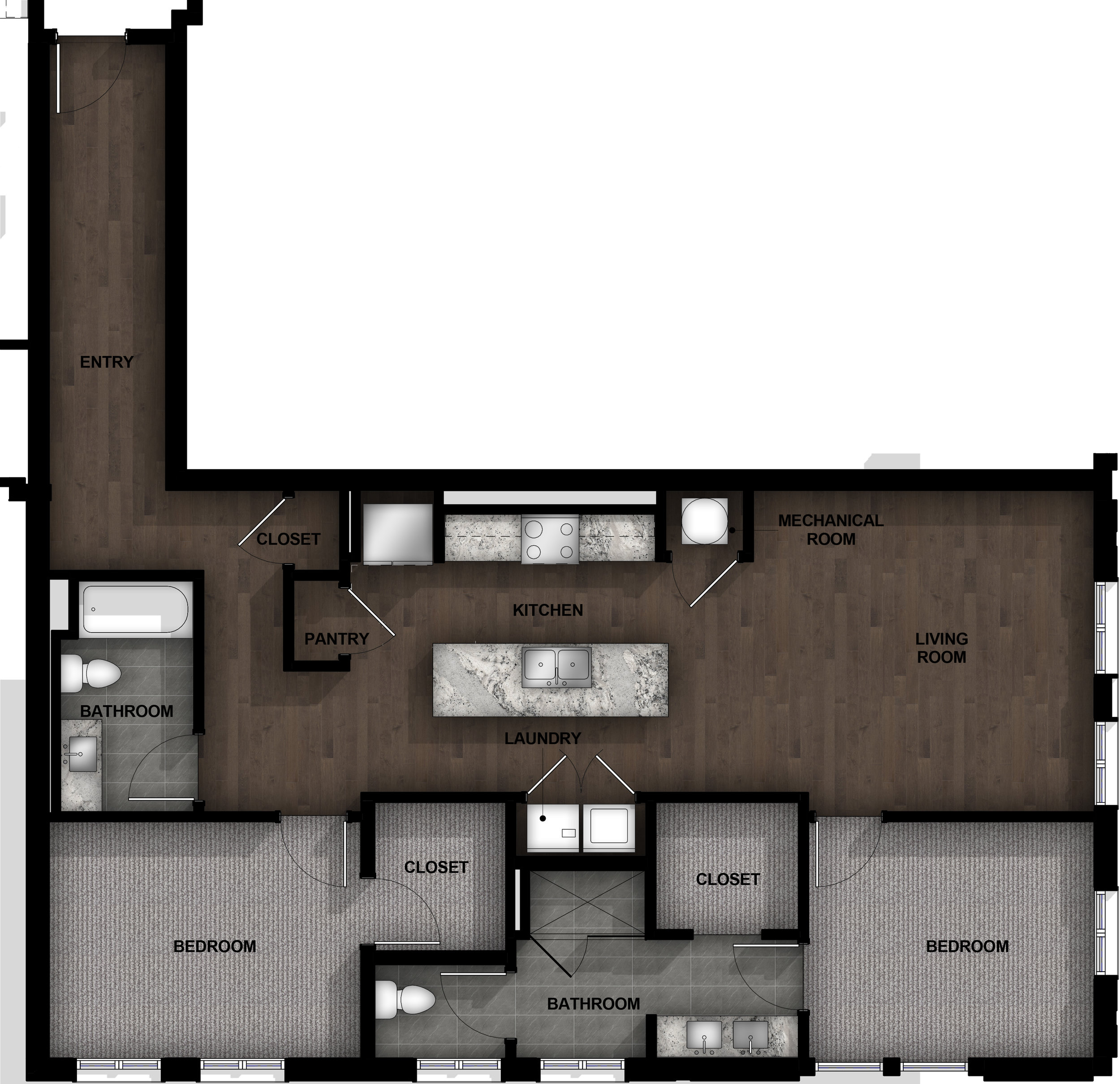 2 Bedroom | Layout B5
