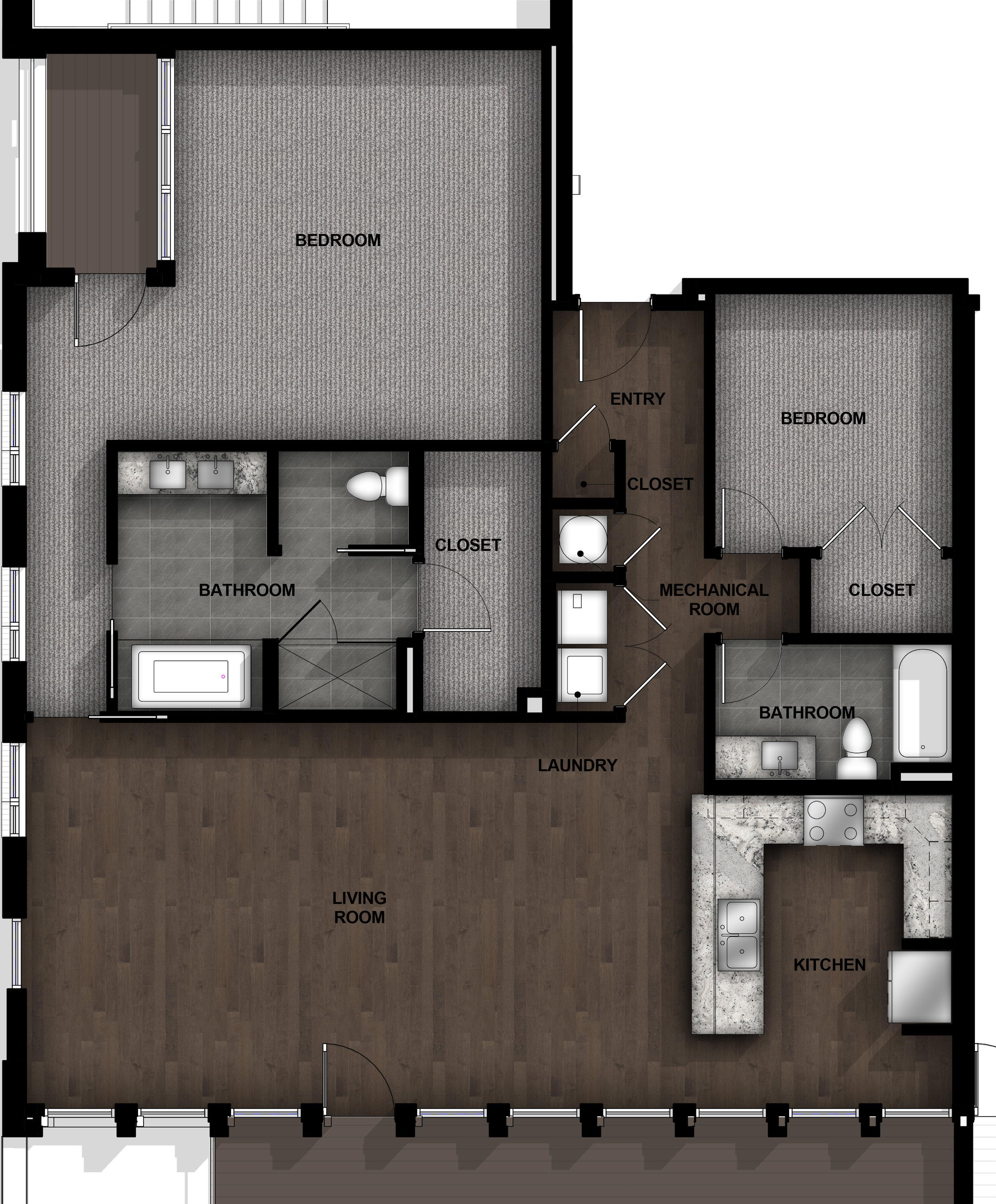 2 Bedroom | Layout B6