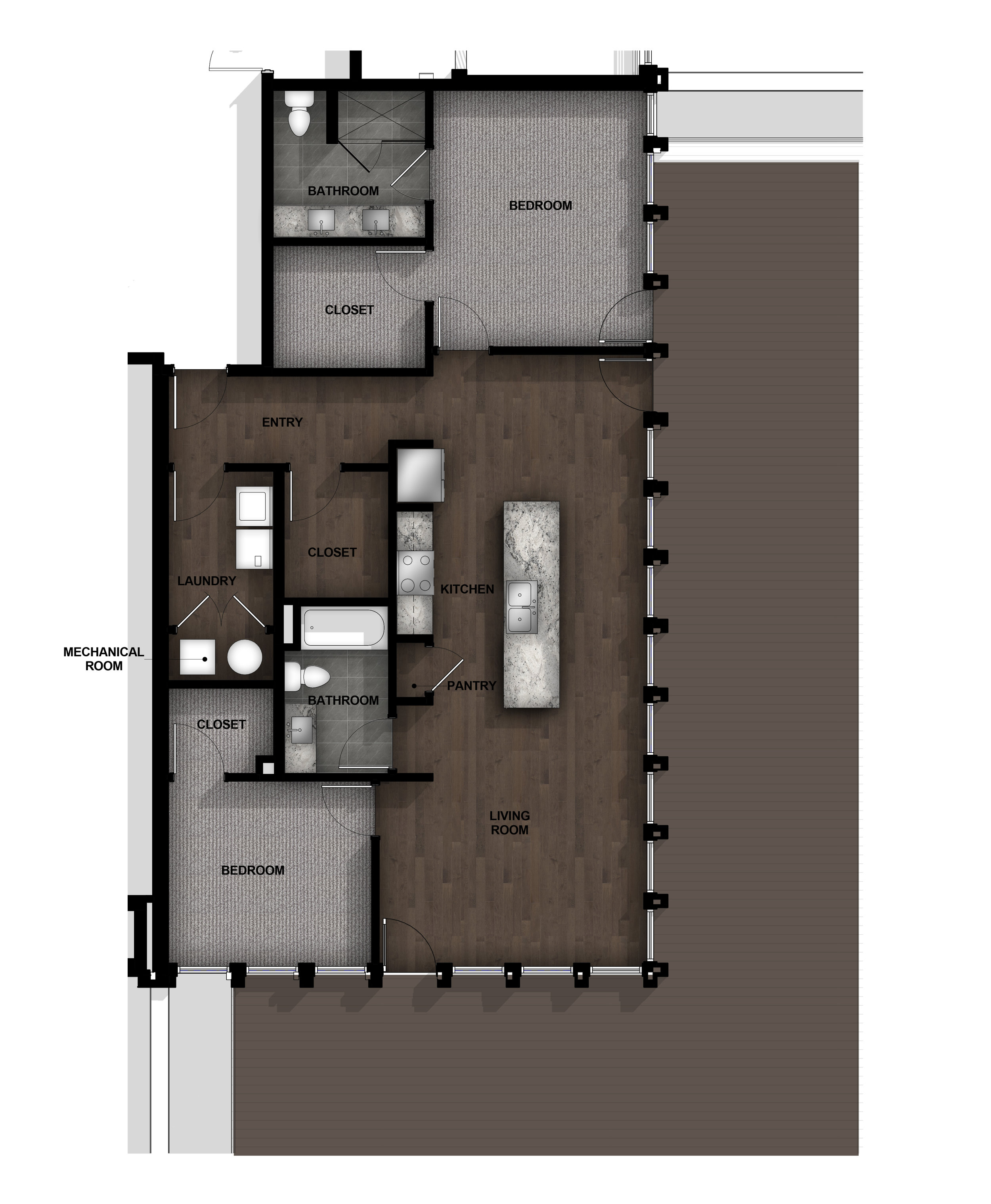 2 Bedroom | Layout B8