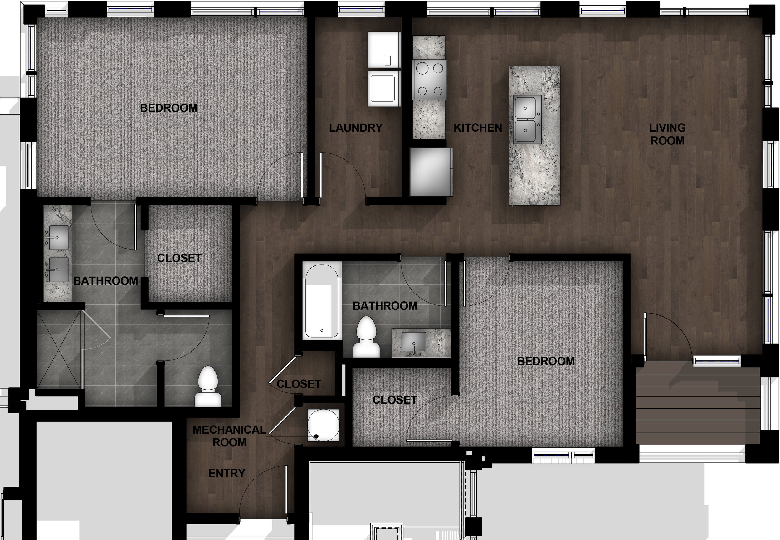 2 Bedroom | Layout B11