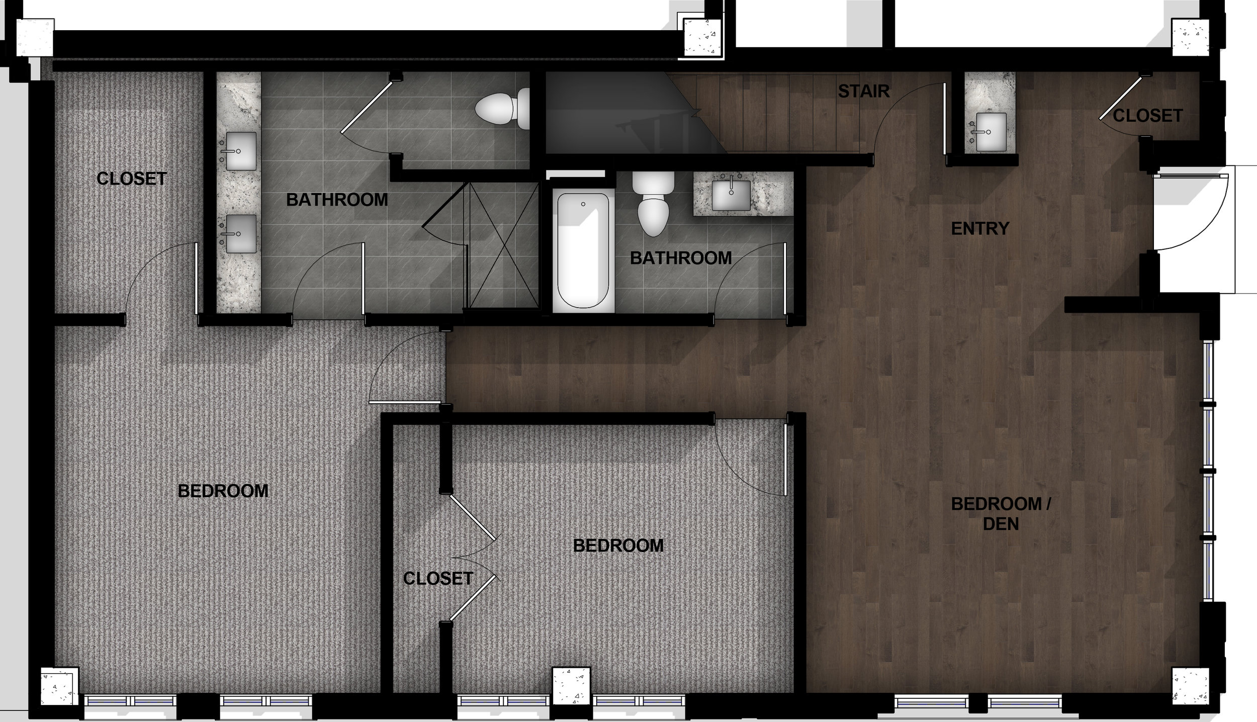 Townhome | Layout C1-2