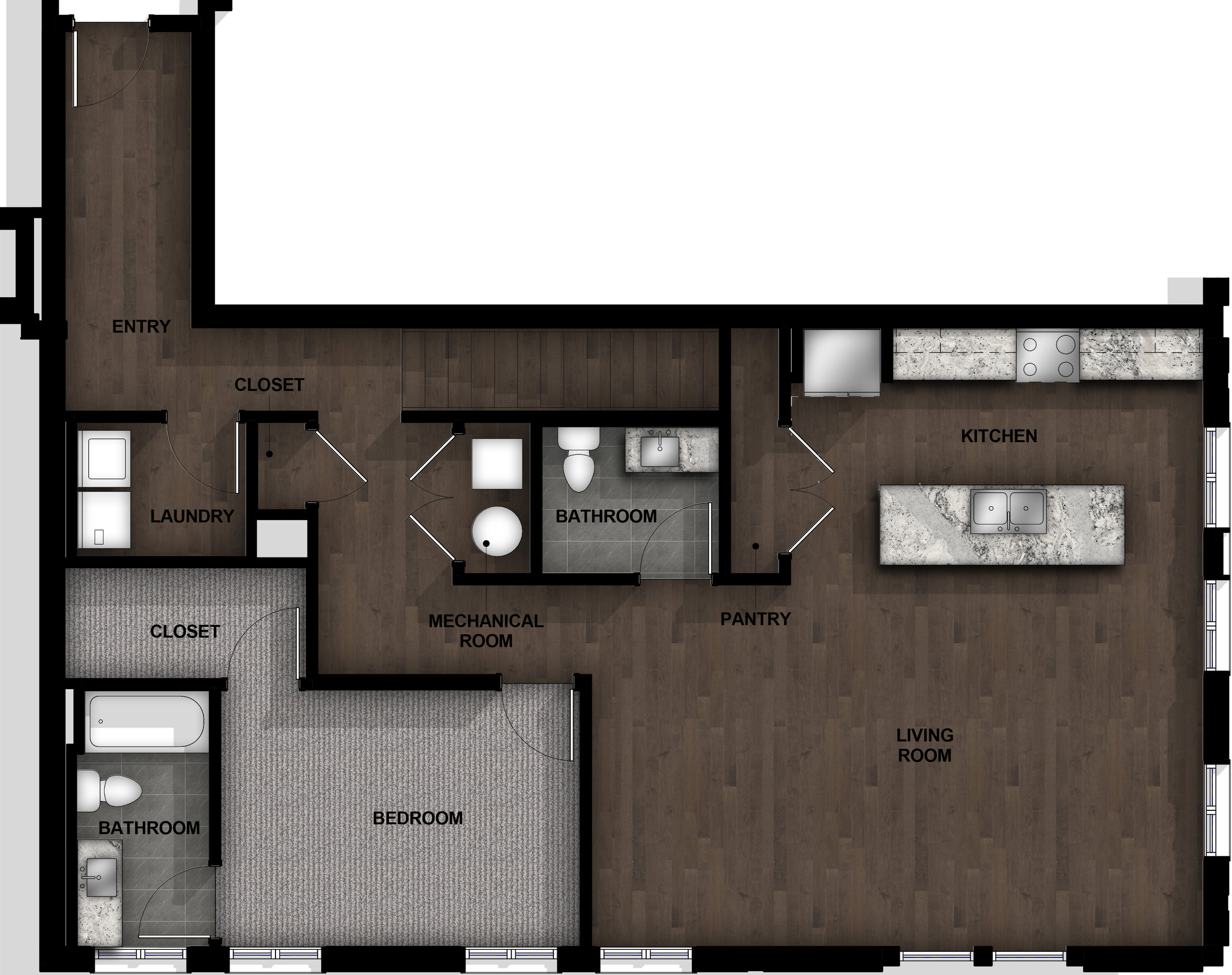 Townhome | Layout C1-1