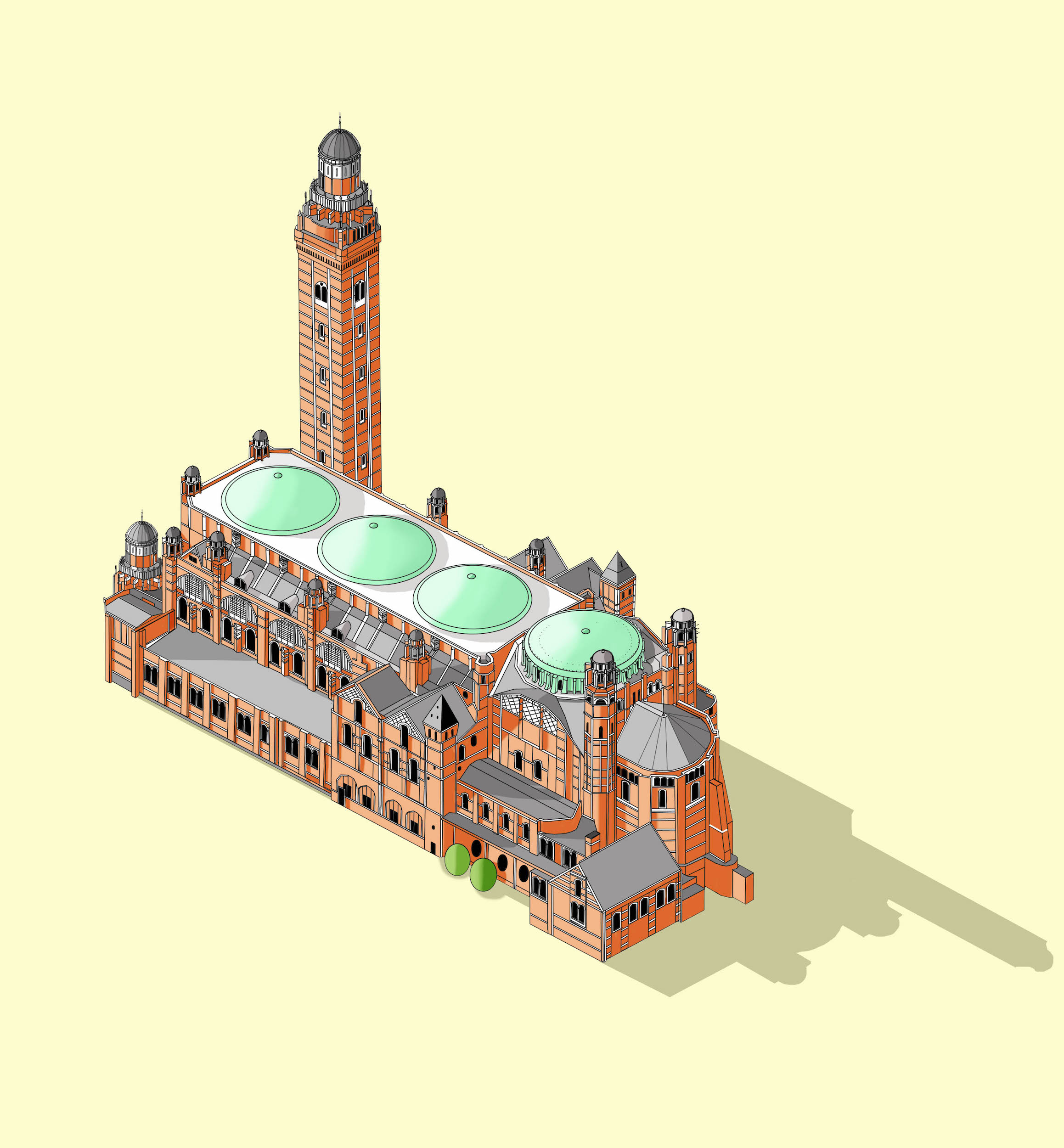 Westminster Cathedral  Illustration by Katherine Baxter