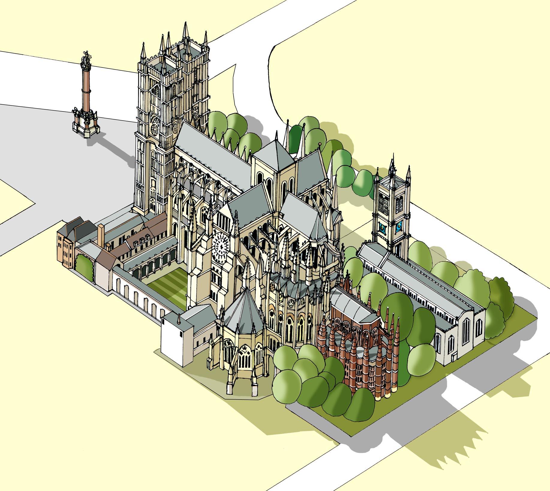 Westminster Abbey  Illustration by Katherine Baxter